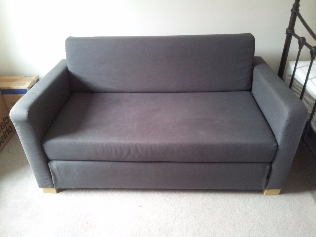 Well Liked Ikea Ullvi – 2 Seater Sofa Bed In Dark Grey (View 15 of 15)