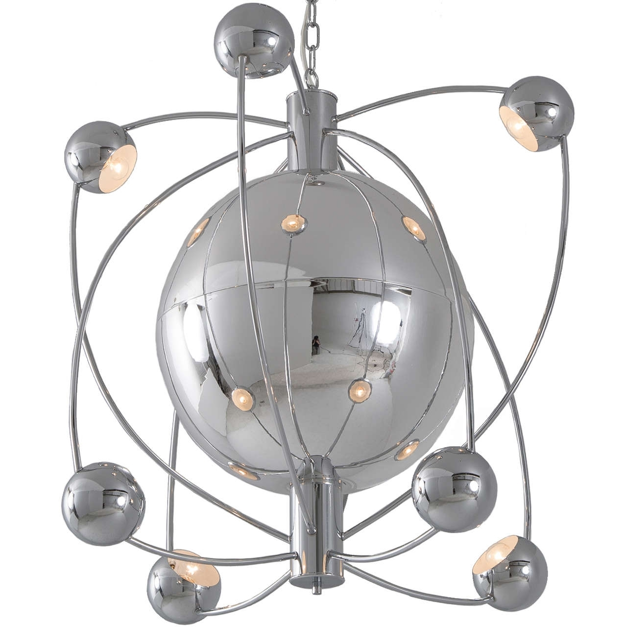 Well Liked Large Atom Shaped Chandelier, Italy 1970S (View 12 of 15)