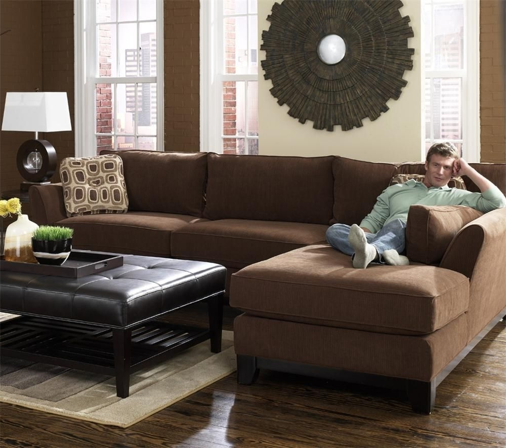 Well Liked Lazyboy Sectional Sofas For Modern Brown 2 Piece Lazy Boy Sectional With Chaise (View 13 of 15)