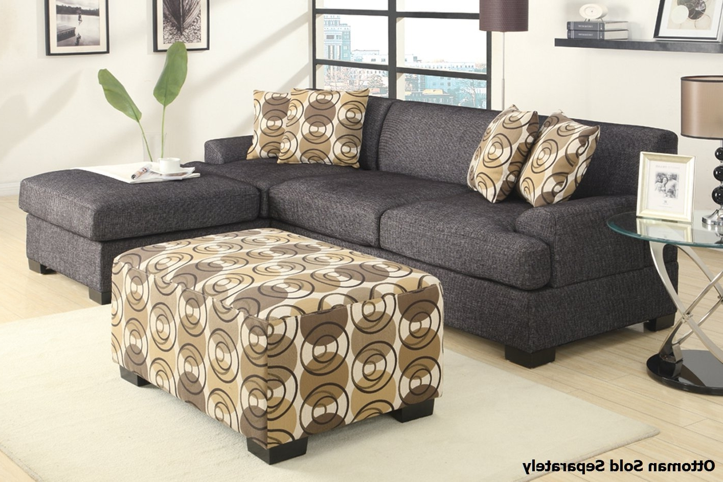 Well-liked Montreal Ii Grey Fabric Sectional Sofa - Steal-A-Sofa Furniture throughout Montreal Sectional Sofas
