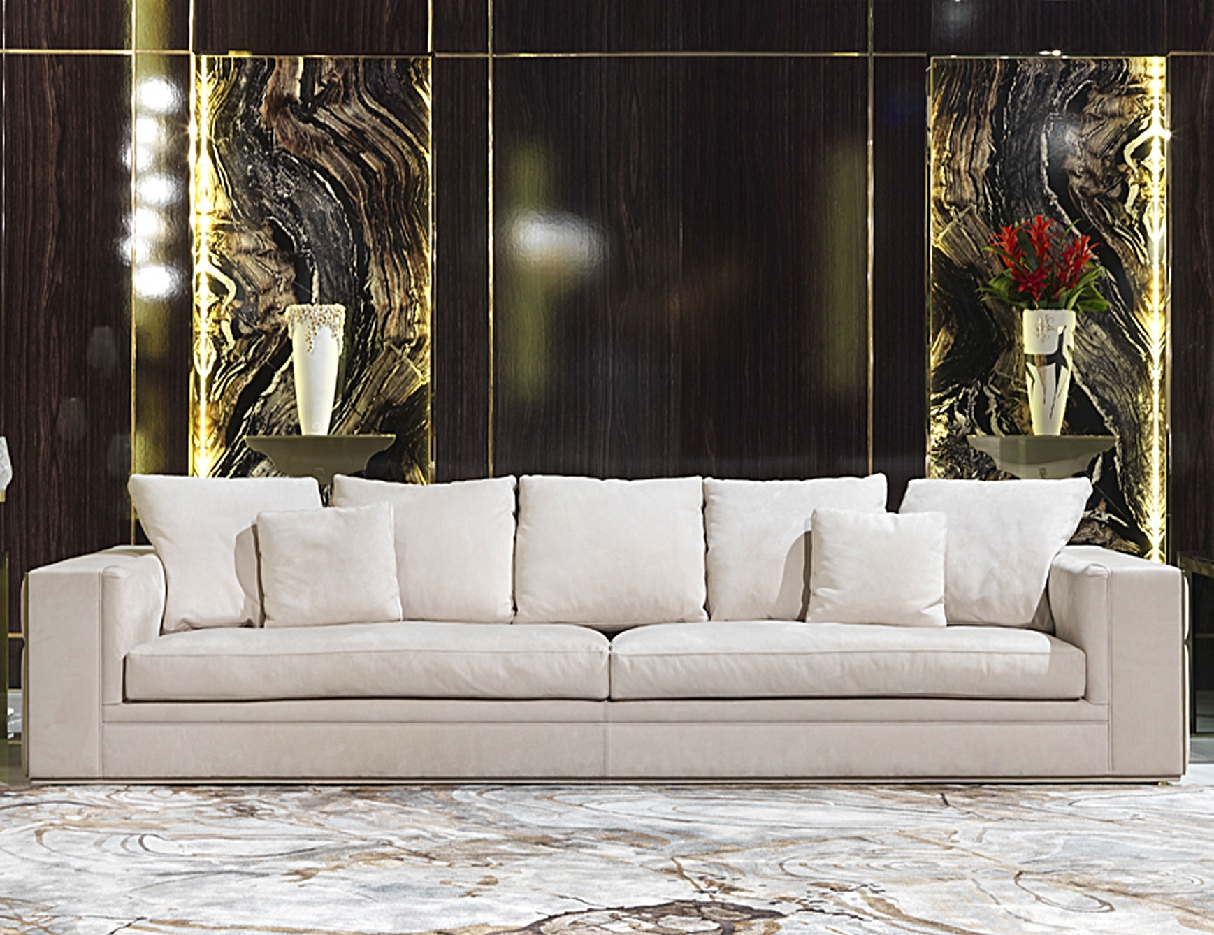 Well Liked Nella Vetrina Visionnaire Ipe Cavalli Babylon Luxury Italian Sofa Within Luxury Sofas (View 2 of 15)