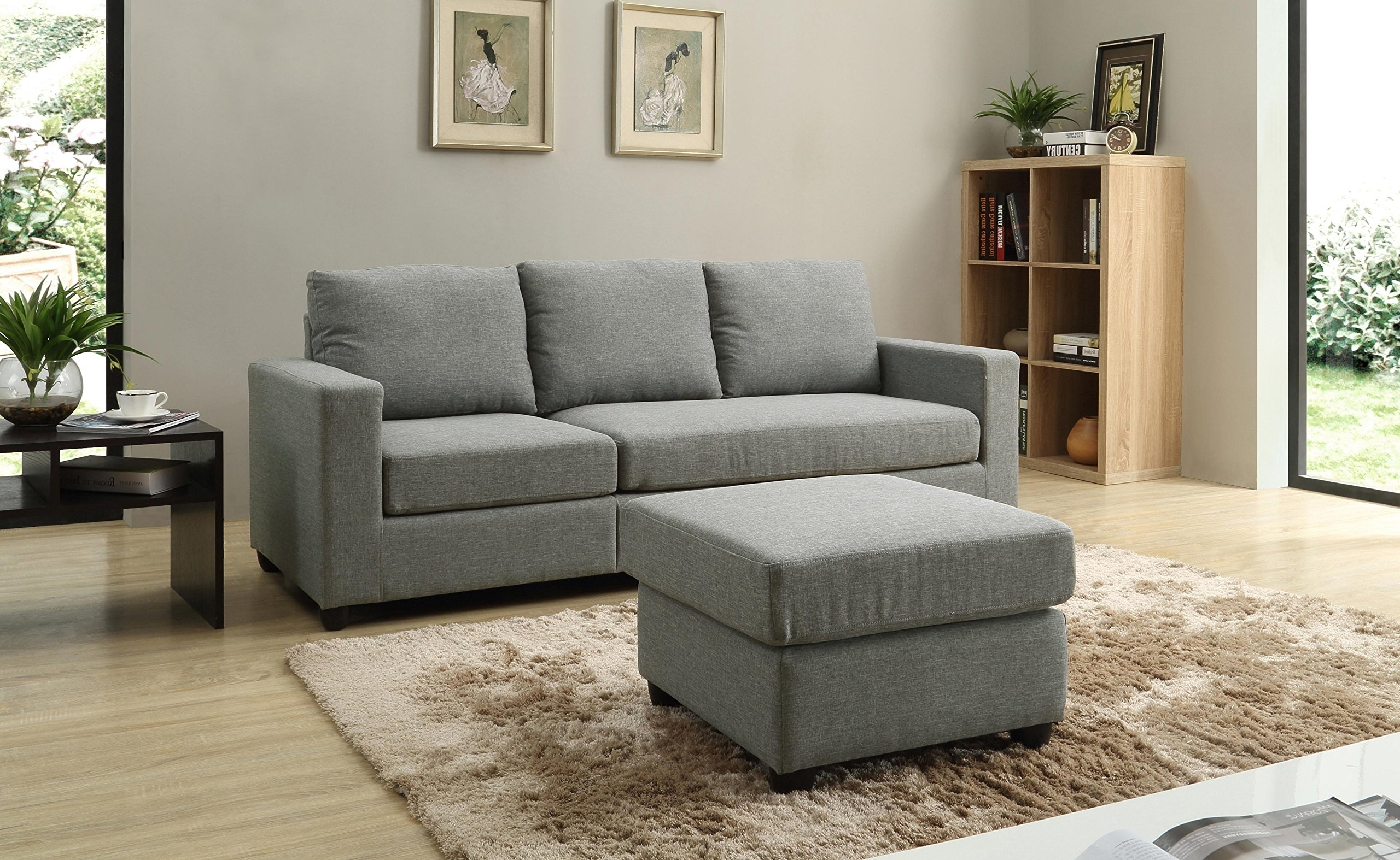 Well Liked Nhi Express Alexandra Convertible Sectional Sofa, Grey (View 15 of 15)