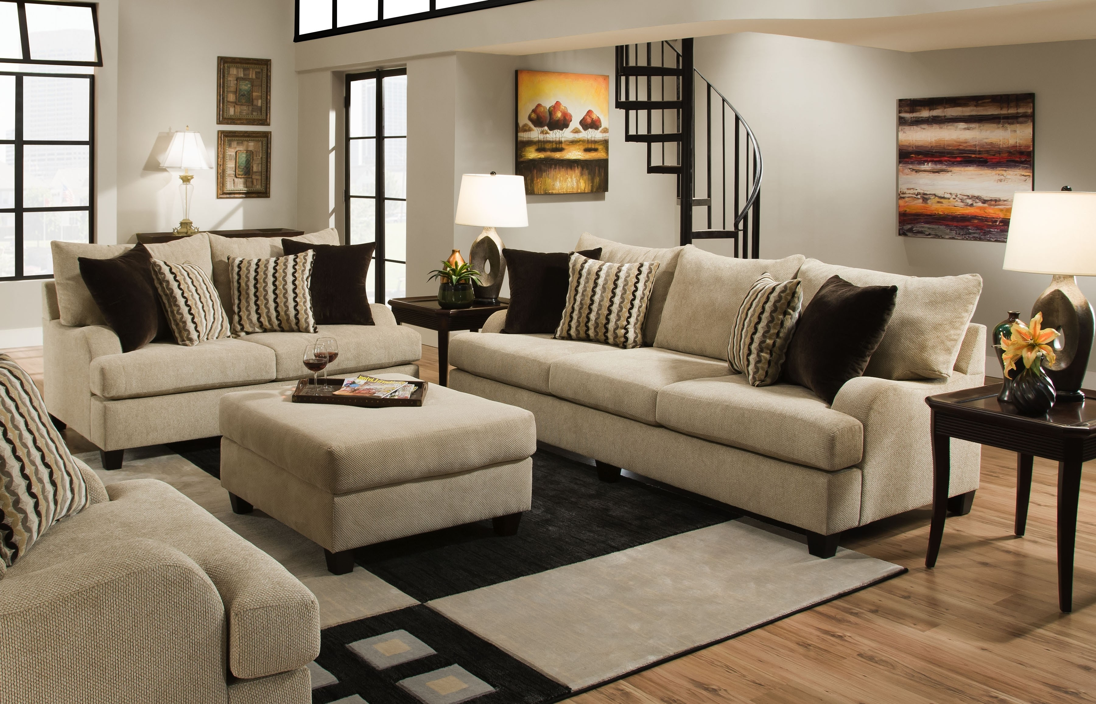 Well Liked Orange County Sofas Within Trinidad Chenile Living Room Set – Sofa & Loveseat (View 15 of 15)