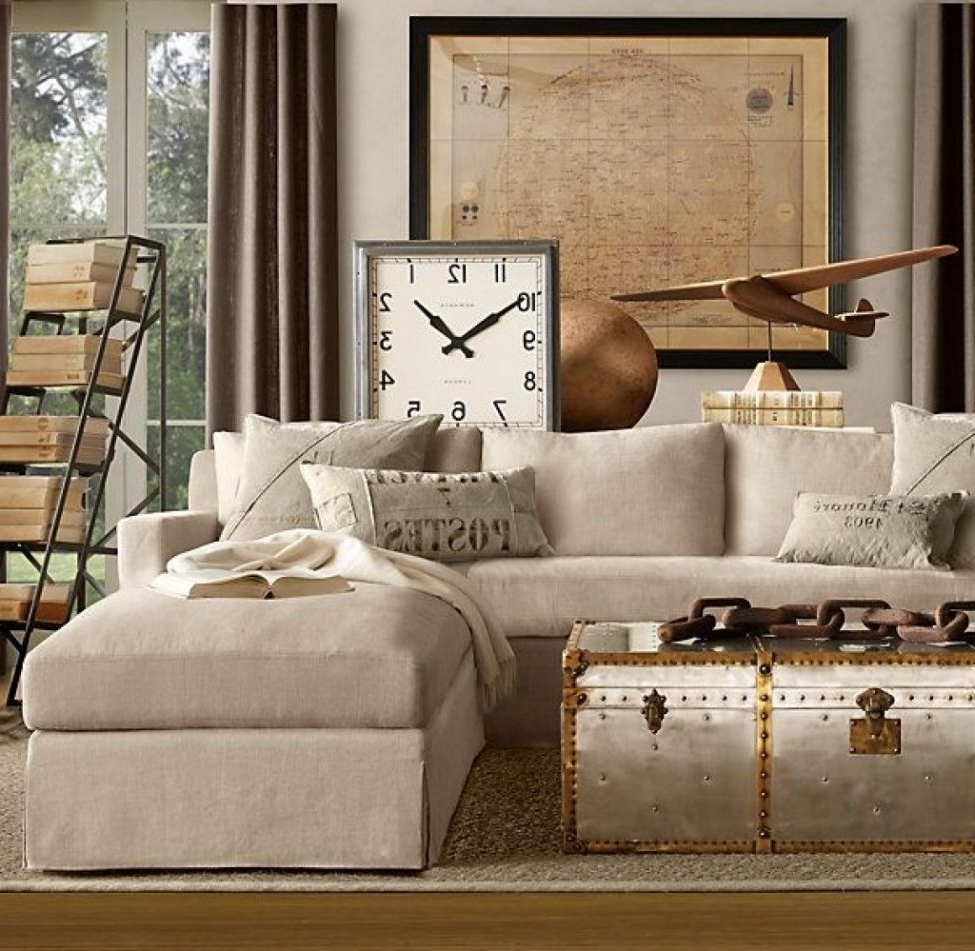 Well Liked Restoration Hardware Sectional Sofas Regarding Sectional Sofas:  Cloud Cube Modular Leather Sectionals Restoration