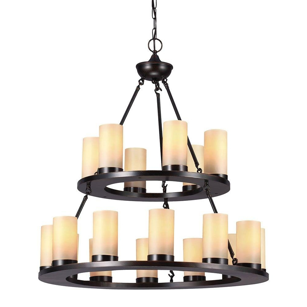 Well Liked Sea Gull Lighting Ellington 18 Light Burnt Sienna Round Chandelier Intended For Candle Light Chandelier (View 9 of 15)