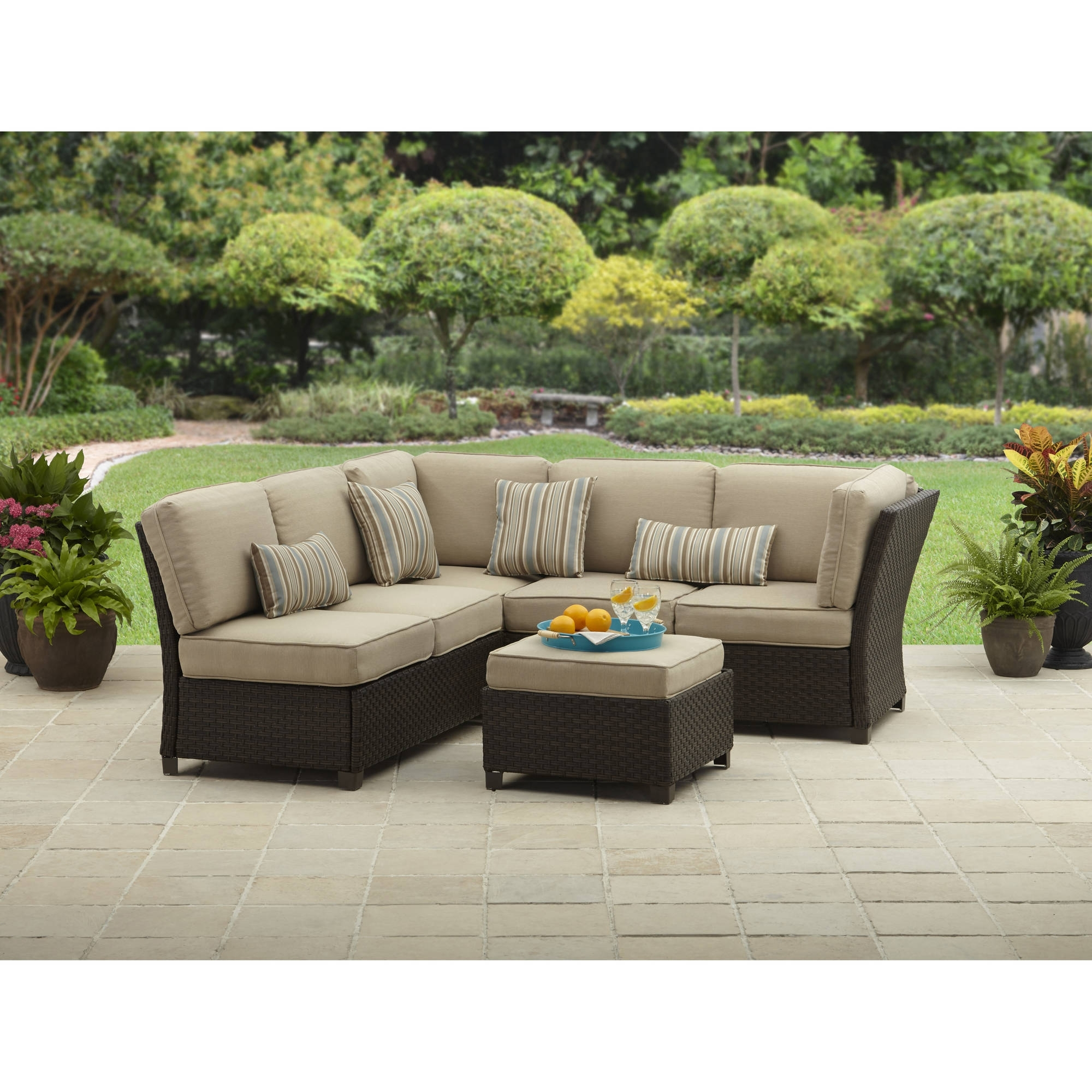 Well Liked Sectional Sofas At Walmart With Better Homes And Gardens Cadence Wicker Outdoor Sectional Sofa Set (View 10 of 15)
