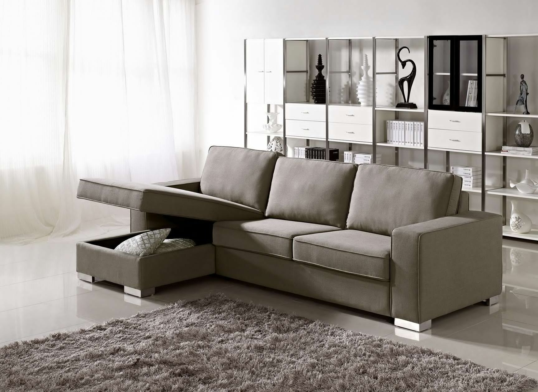 Well Liked Sectional Sofas For Condos In Sectional Sofa Design: Apartment Size Sectional Sofa With Chaise (View 14 of 15)