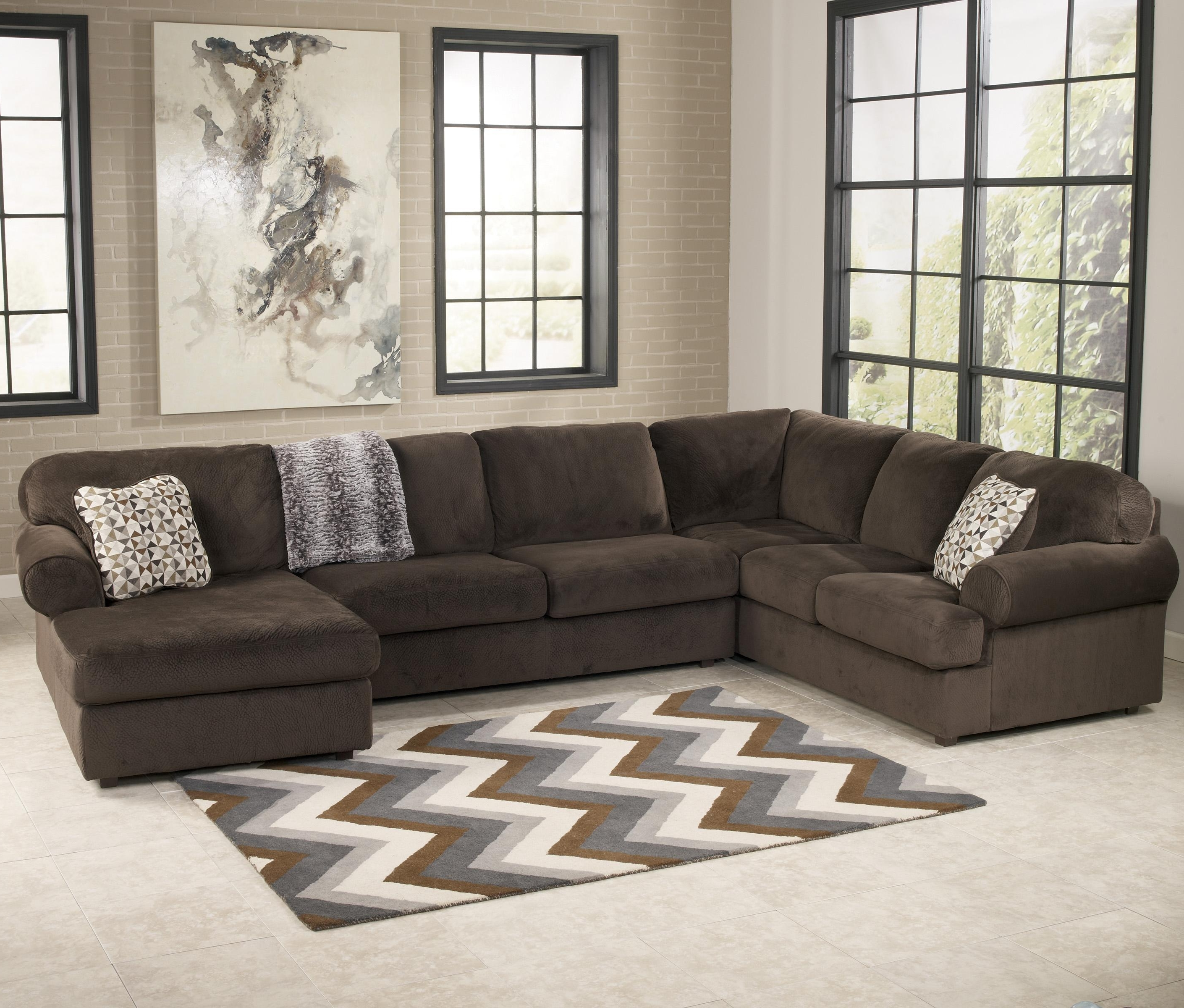 Well Liked Signature Designashley Jessa Place – Chocolate Casual Regarding Wilmington Nc Sectional Sofas (View 7 of 15)