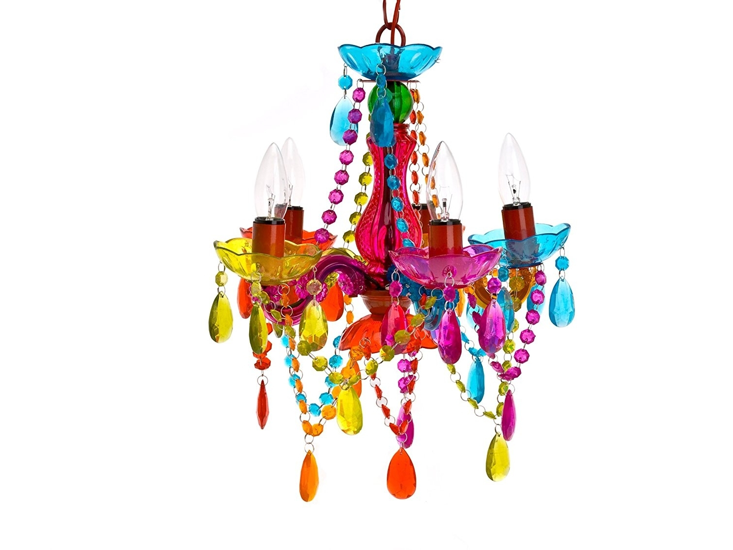 Well Liked Silly Lamp 5 Arms Chandelier Gypsy Small, Multi Colour – – Amazon Pertaining To Colourful Chandeliers (View 3 of 15)