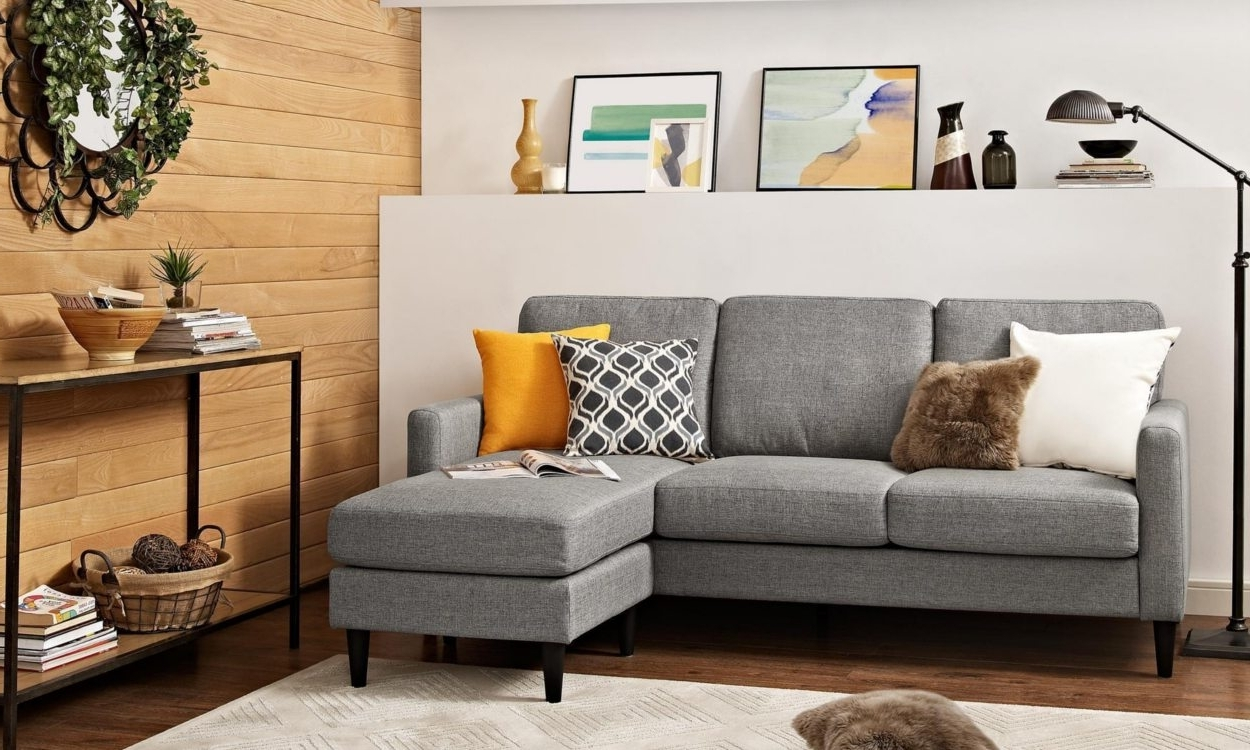 Well Liked Small Leather Sectionals With Chaise Pertaining To Best Sectional Sofas For Small Spaces – Overstock (View 15 of 15)