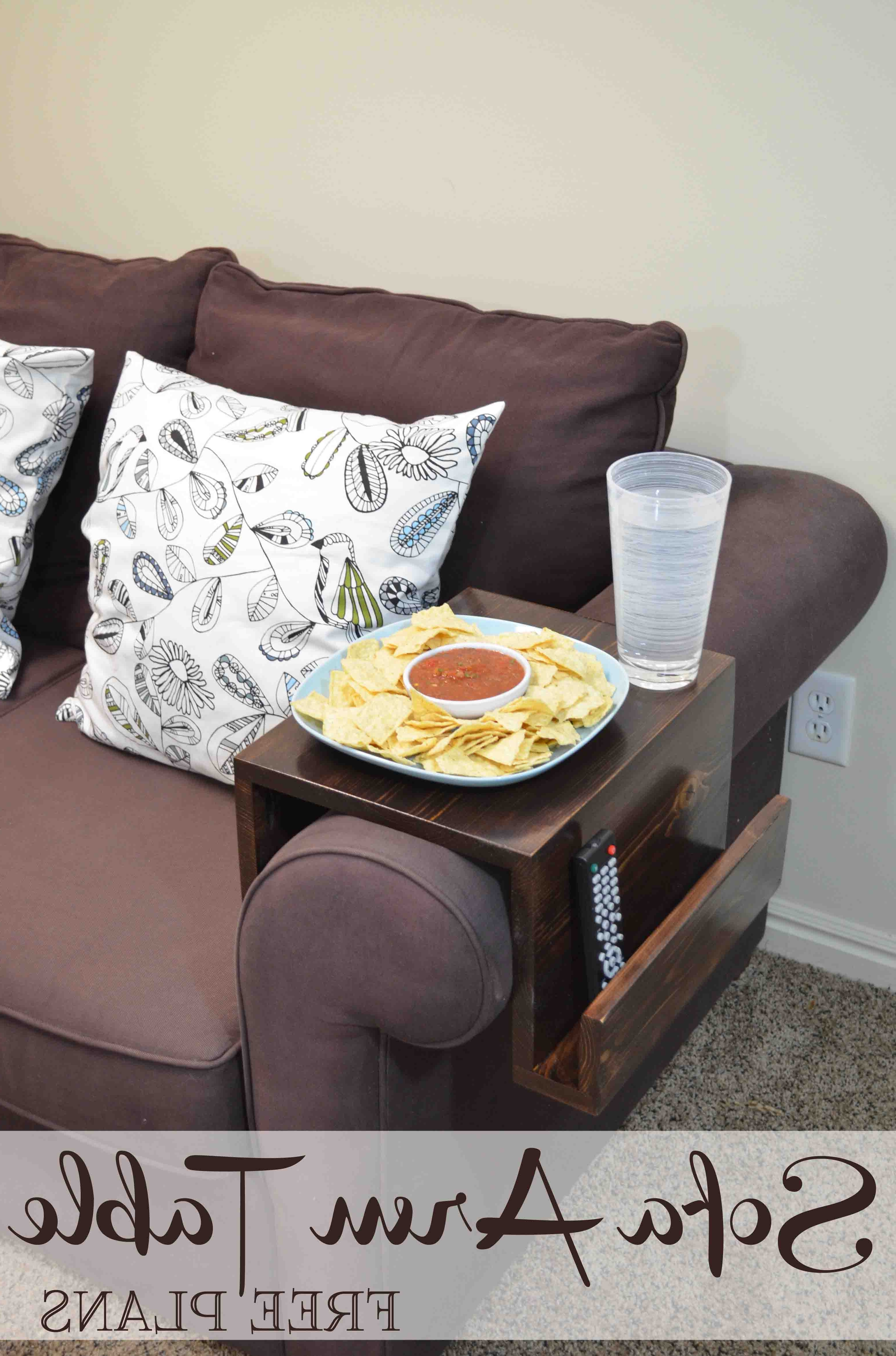 Well Liked Sofas With Drink Tables For Remodelaholic (View 13 of 15)