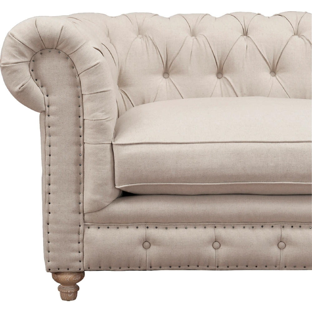 Well Liked Tov Furniture Tov S19 Oxford Chesterfield Style Sofa W/ Tufted For Tufted Linen Sofas (View 10 of 15)