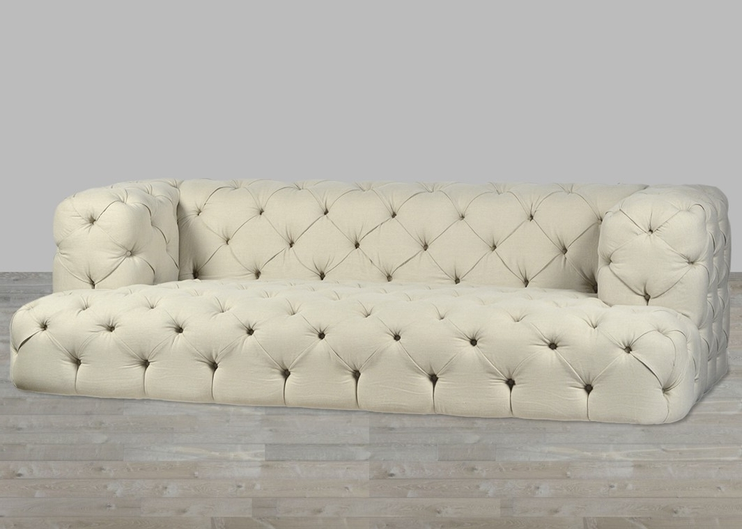 Well Liked Tufted Linen Sofas Inside Nottingham Sofa B (View 3 of 15)
