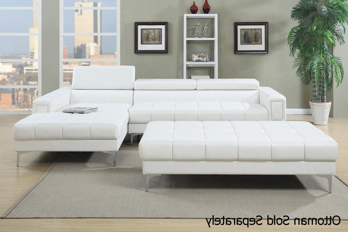 Well Liked Tufted Sectional Sofas With Chaise In White Leather Sectional Sofa – Steal A Sofa Furniture Outlet Los (View 4 of 15)