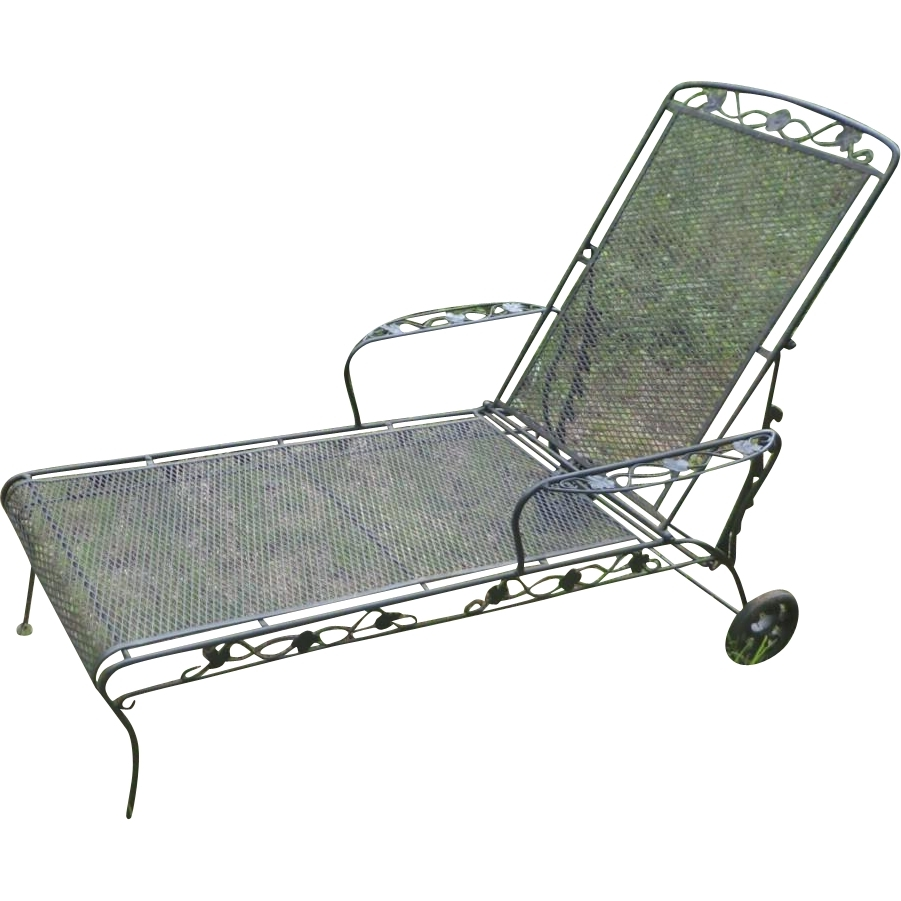 Well Liked Wrought Iron Chaise Lounge Chairs Pertaining To Wrought Iron Chaise Lounge Chairs (View 11 of 15)
