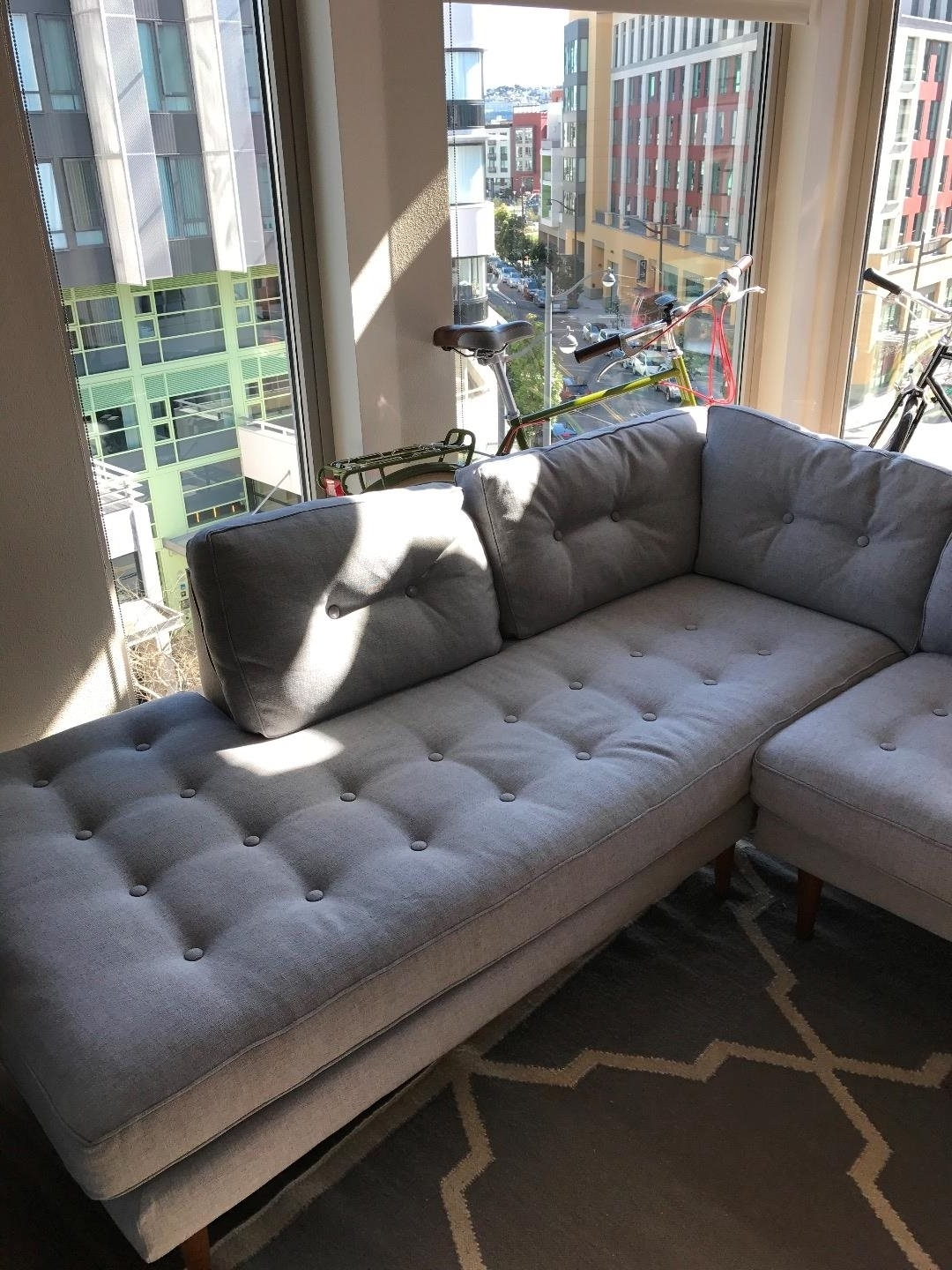 West Elm Chaises For Most Popular West Elm Peggy Mid Century Terminal Chaise Sectional: For Sale In (View 9 of 15)