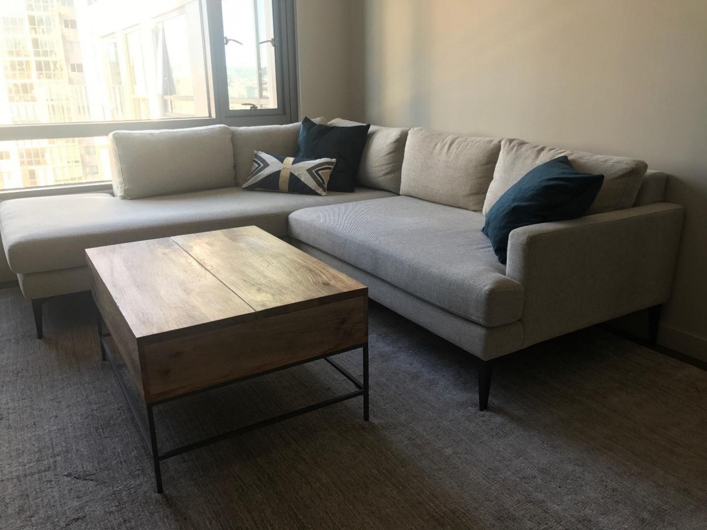 West Elm Chaises In Newest Furniture: West Elm Andes Terminal Chaise Sectional Couch: For (View 5 of 15)