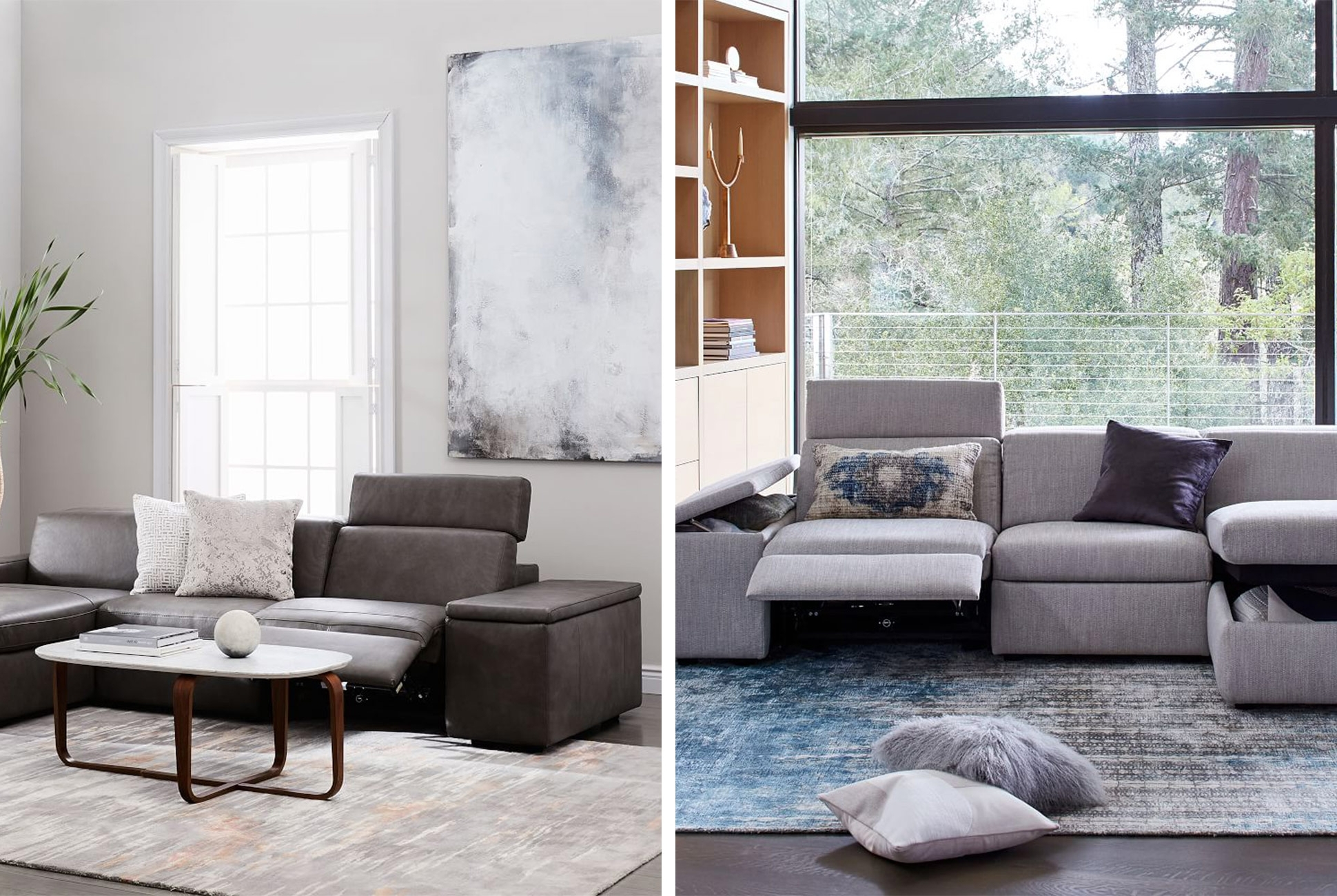 West Elm Sectional Sofas Throughout Most Popular West Elm's New Enzo Series Features Recliners And Storage – Gear (View 13 of 15)