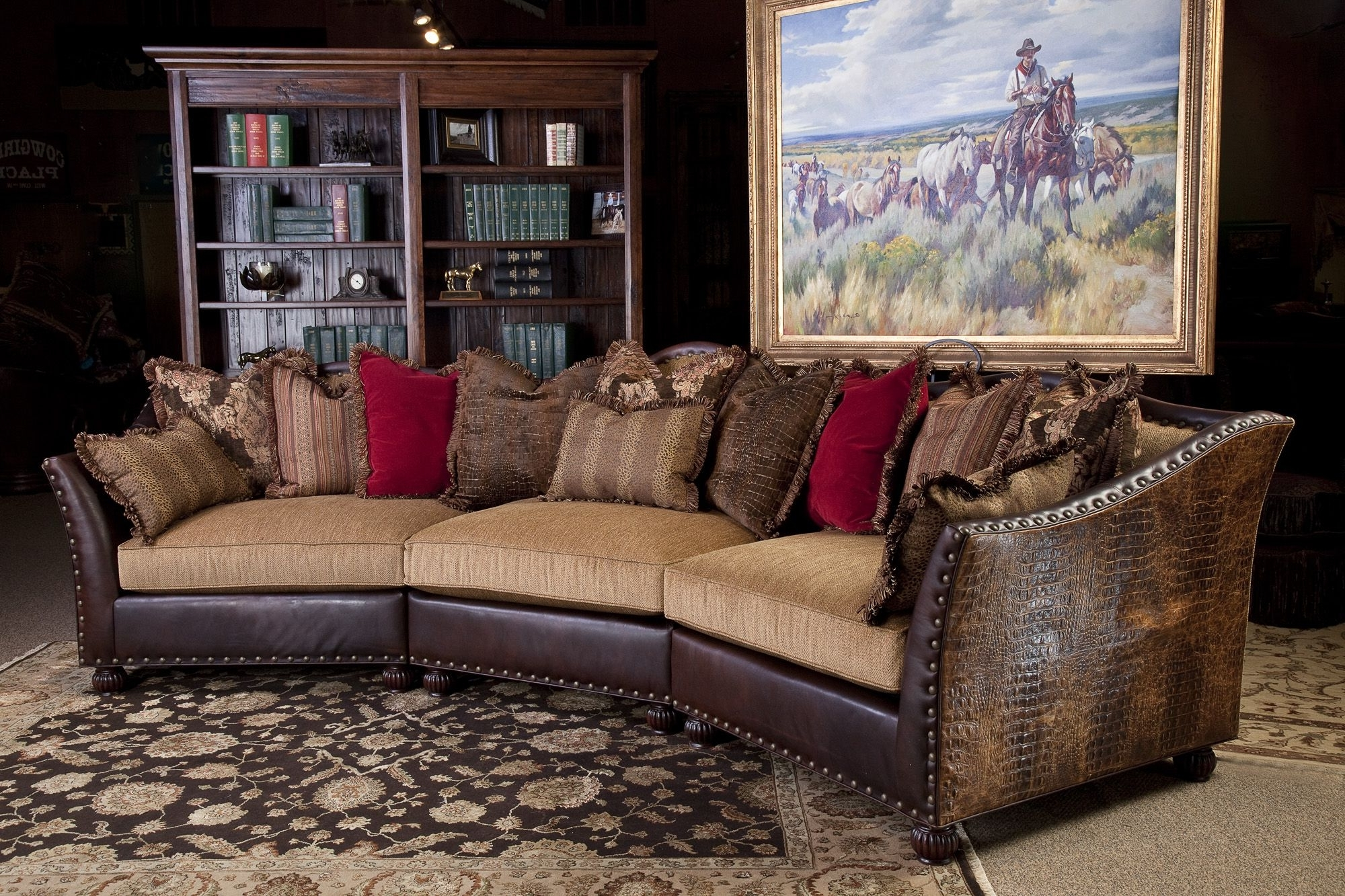 Western Art, Emboss And Westerns Throughout Western Style Sectional Sofas (View 12 of 15)