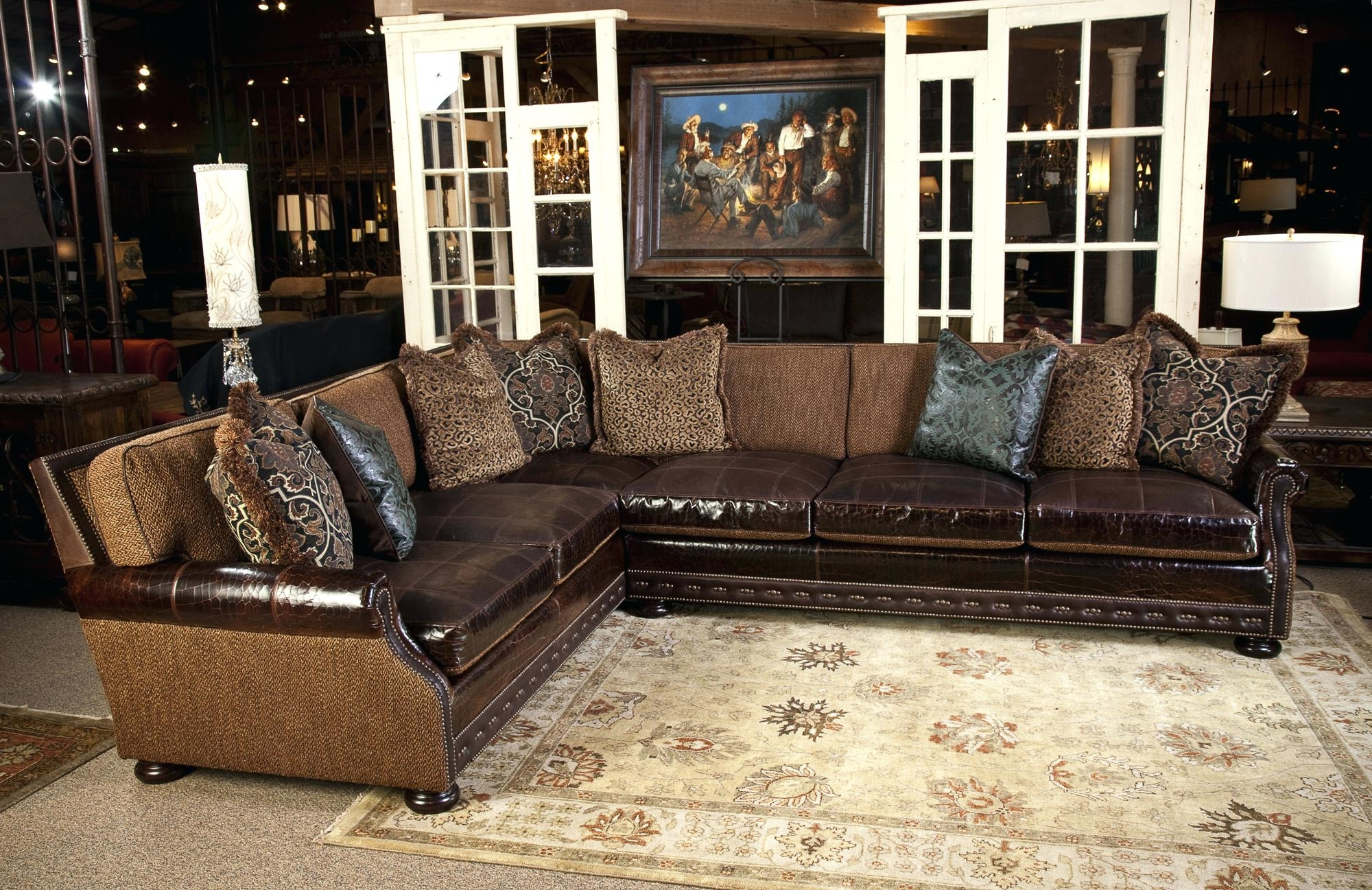 Western Style Sectional Sofas With Regard To Recent Rustic Sectionalfasfa Couches Western Style Leather Full Size Of (View 4 of 15)