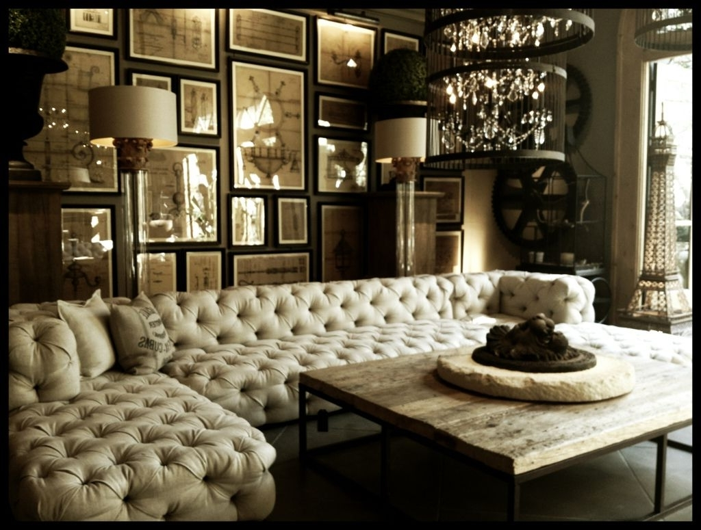 When Classic Meets Modernity : Tufted Upholstered Sectional Sofa With Regard To Fashionable Tufted Sectional Sofas (View 11 of 15)
