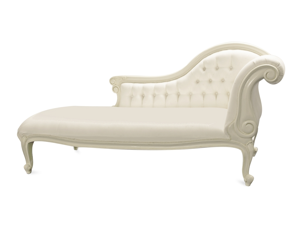 White Chaise Lounge Chairs regarding Newest Chaise Lounge Chair White Leather • Lounge Chairs Ideas