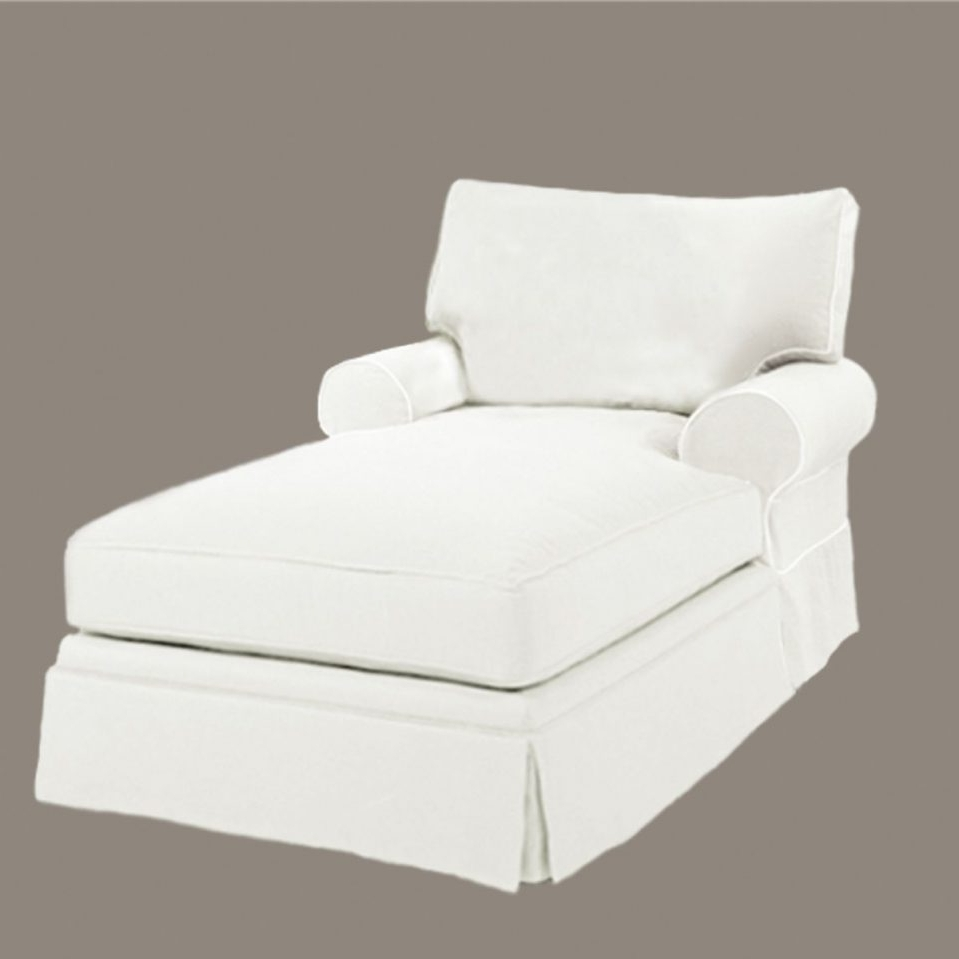 White Chaise Lounge Chairs With Regard To Current Home Designs : Living Room Chaise Lounge Chairs White Fabric (View 3 of 15)