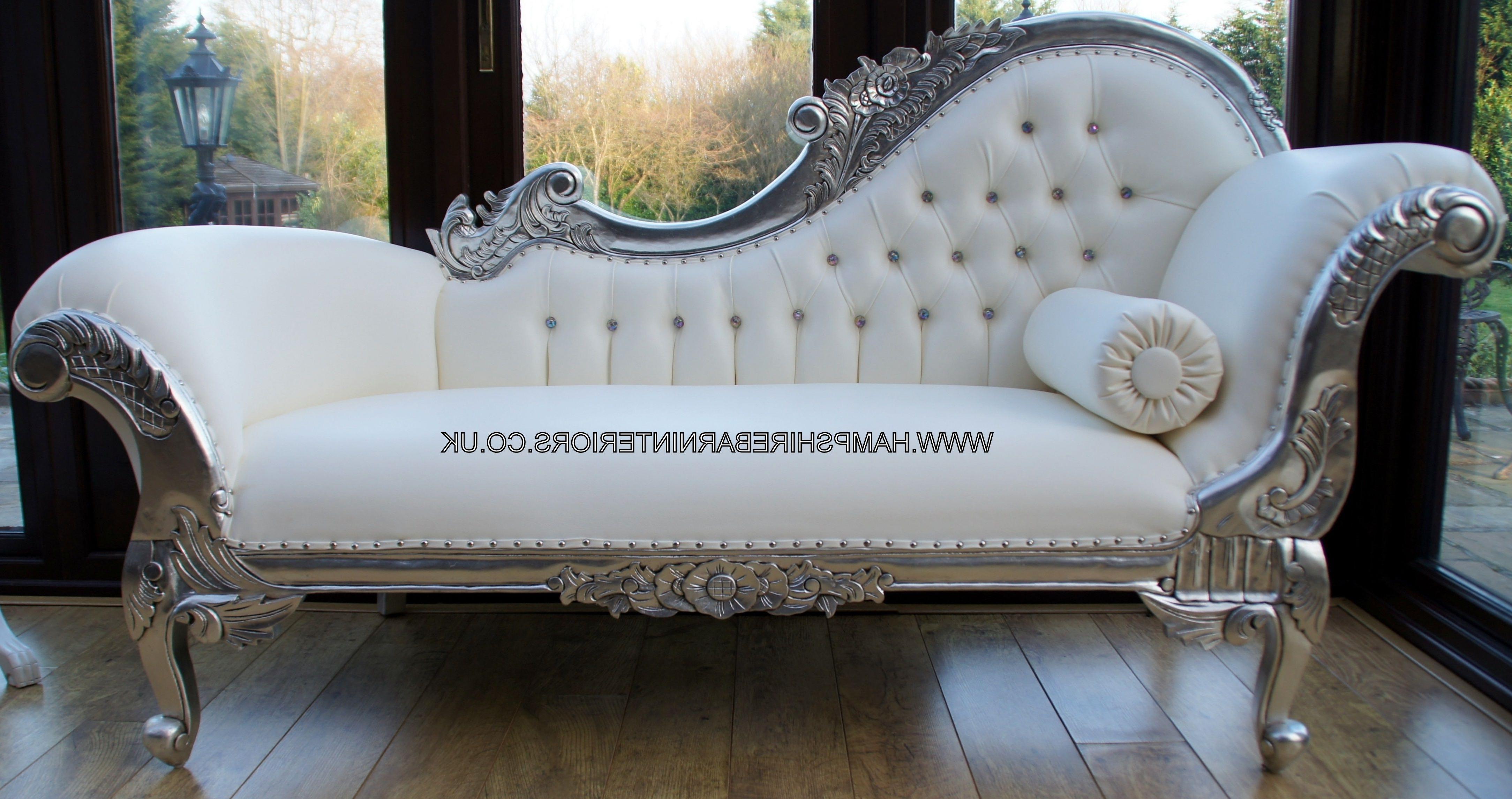 White Chaise Lounges Pertaining To Best And Newest Linda Chaise Lounge Para Maior Conforto Seu Estar Decoração Do (View 12 of 15)
