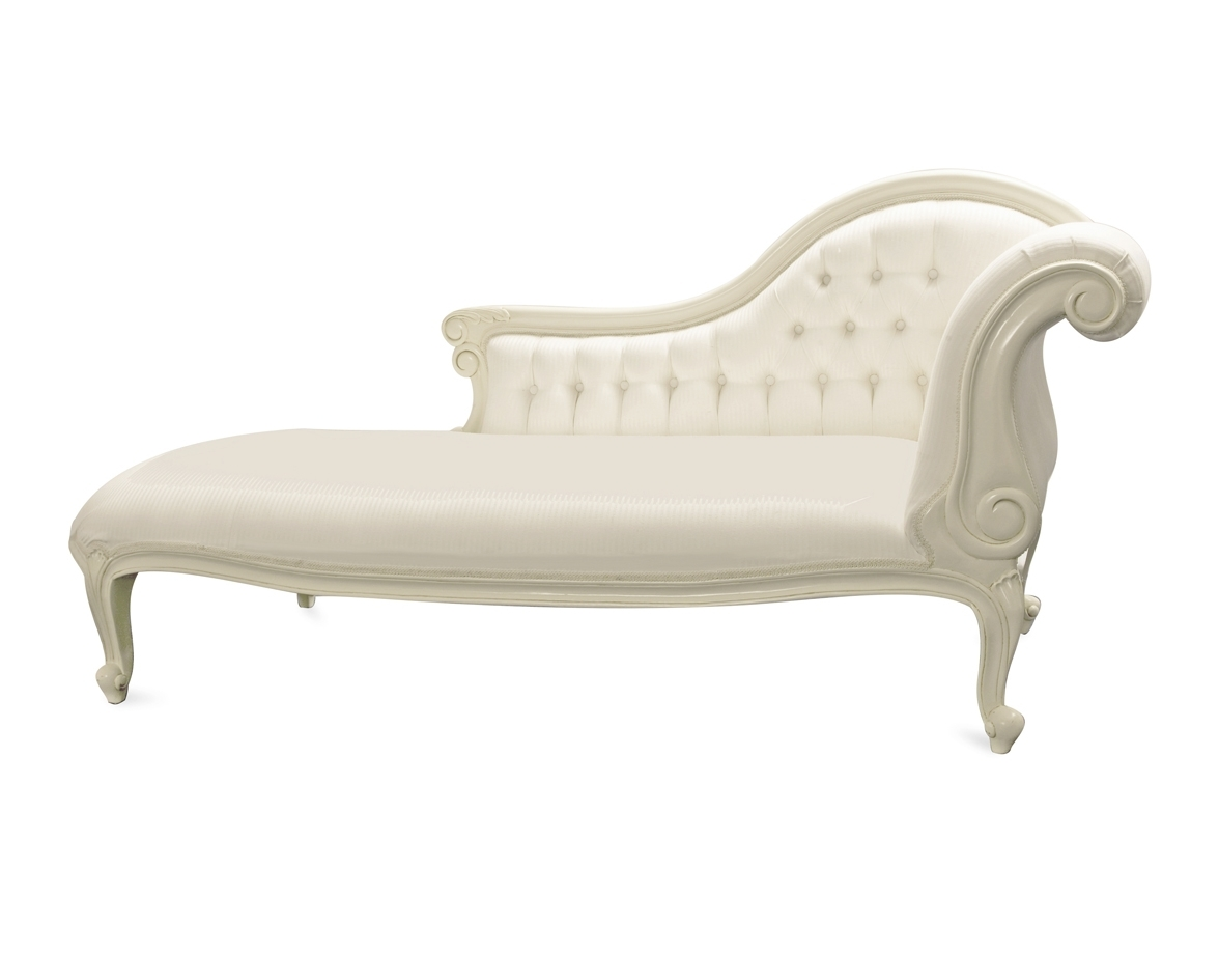 White Chaise Lounges Within Most Current Amazing Of White Chaise Lounge With Chairs White Indoor Double (View 15 of 15)