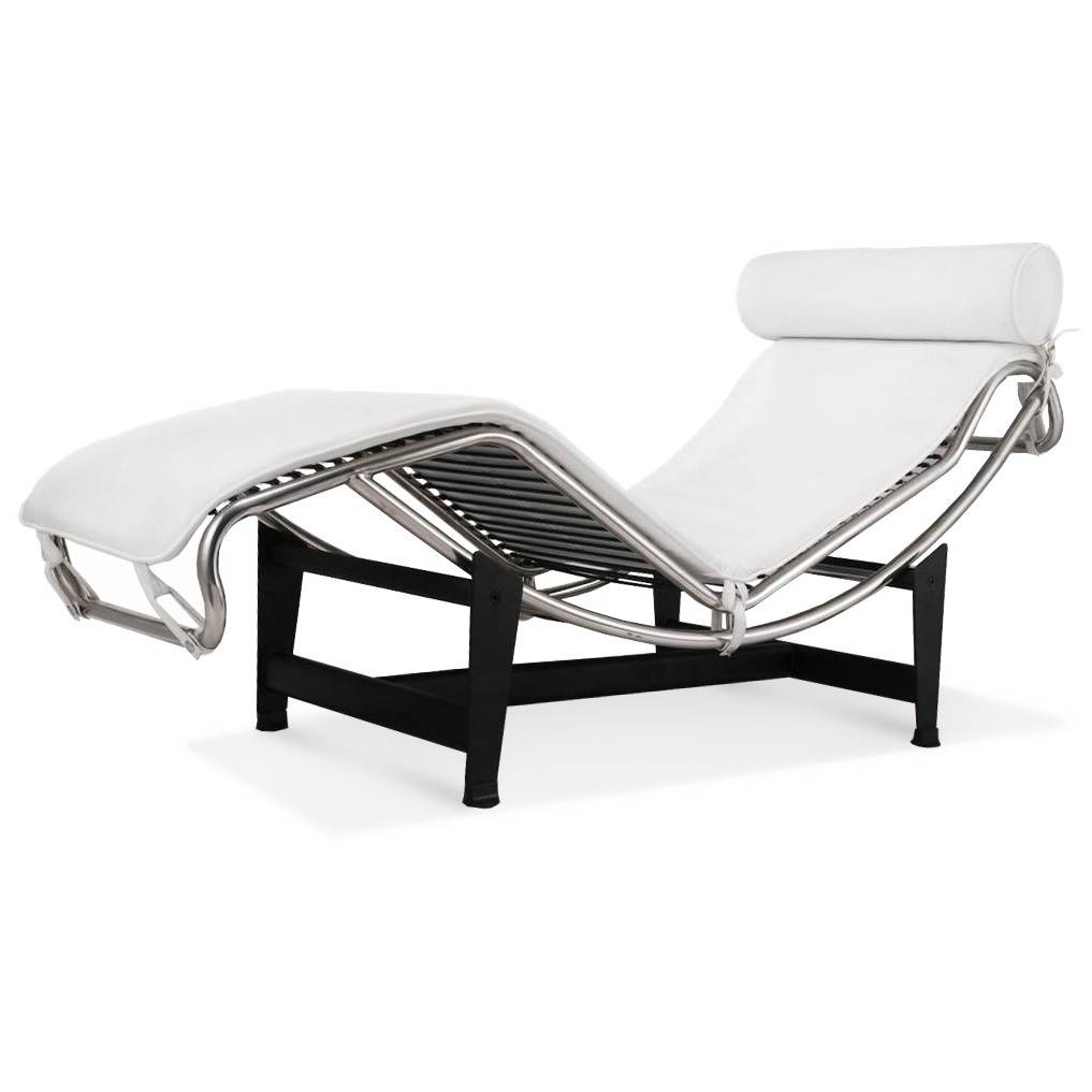 White Leather Chaise Lounges With Regard To Most Current Le Corbusier La Chaise Chair Lc4 Chaise Lounge White Leather (View 15 of 15)