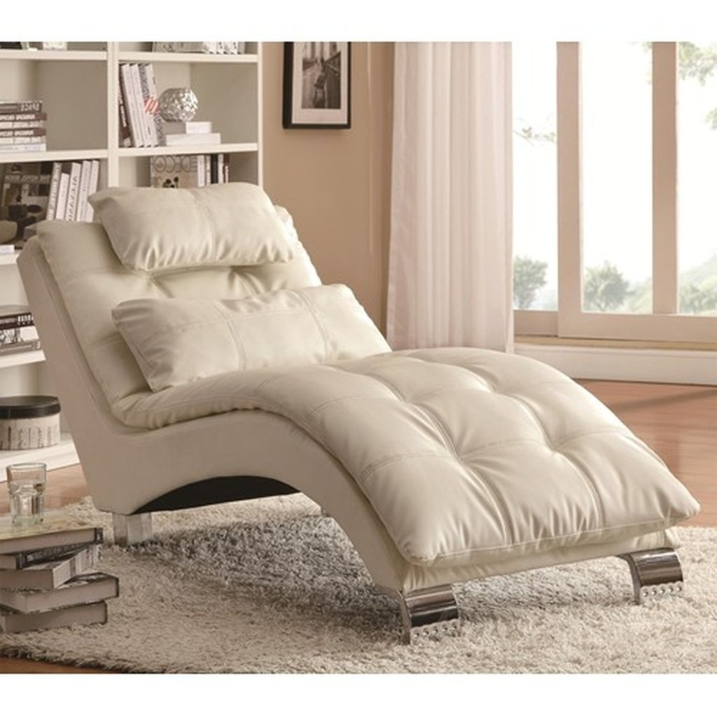 White Leather Chaises For Preferred Sofa (View 12 of 15)
