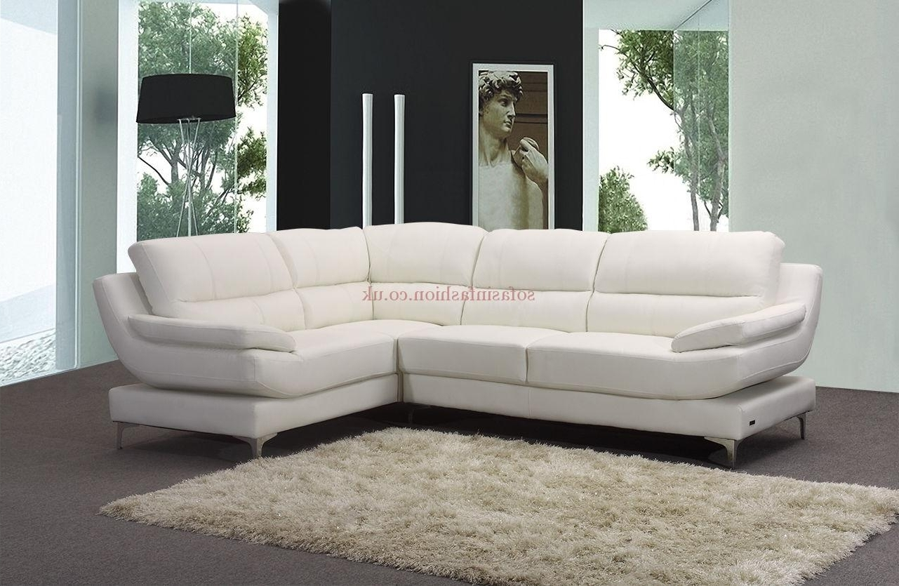 White Leather Corner Sofas With Most Recent New Ideas Leather Corner Sofas With Corner Sofa Leather Brown (View 4 of 15)