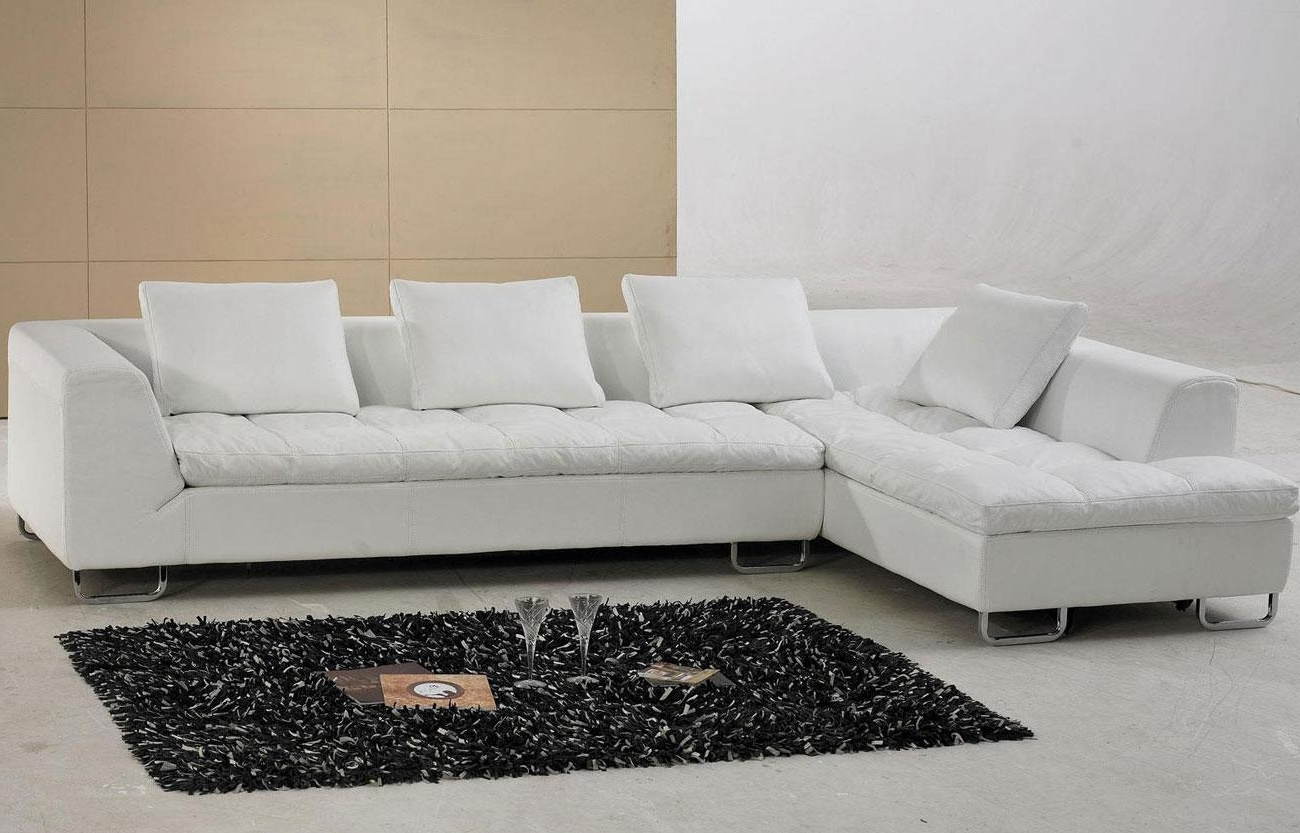 White Leather Sectional Sofa – S3Net – Sectional Sofas Sale Regarding Preferred White Leather Sectionals With Chaise (View 11 of 15)