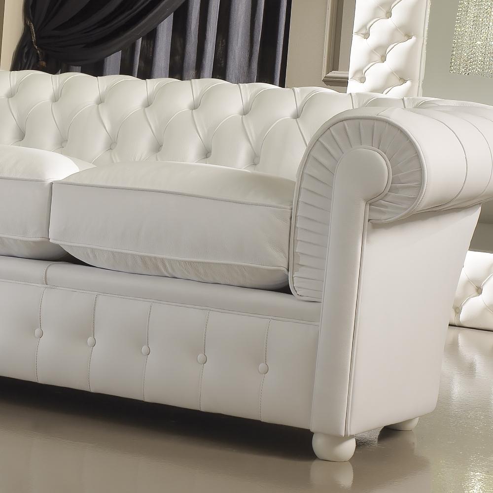 White Leather Sofas Pertaining To 2017 Luxury Italian Premium White Leather Sofa (View 15 of 15)