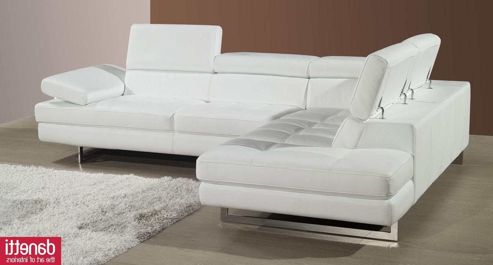 White Leather Sofas With Regard To Famous Modern White Leather Sofa Set Tags : Modern White Leather Sofa (View 8 of 15)