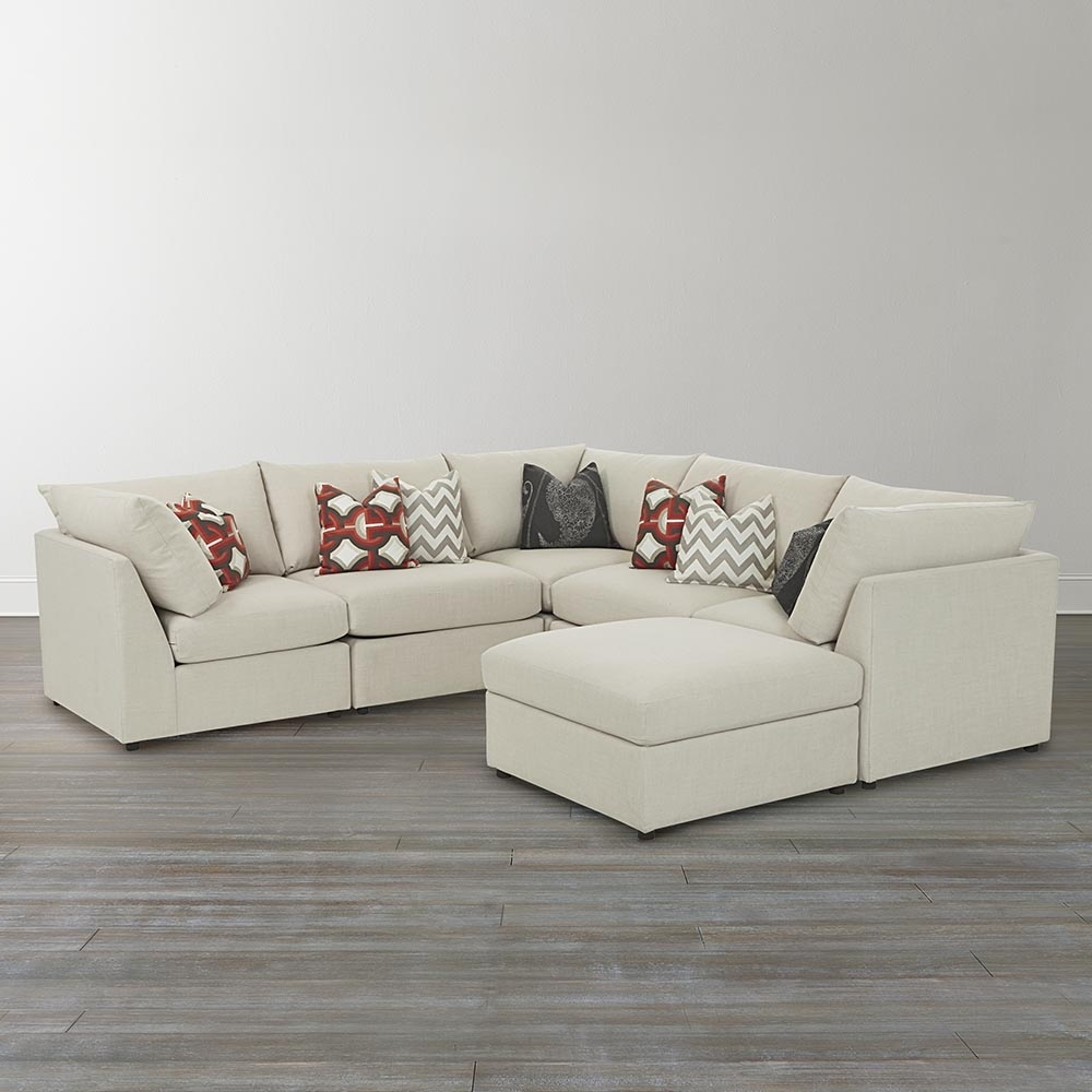White Leather U Shaped Sectional Sofa — Fabrizio Design With Regard To Most Up To Date Scarborough Sectional Sofas (View 12 of 15)