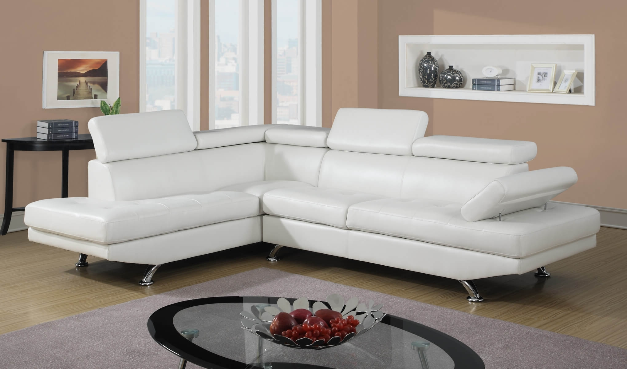 White Modern Sectional (View 15 of 15)