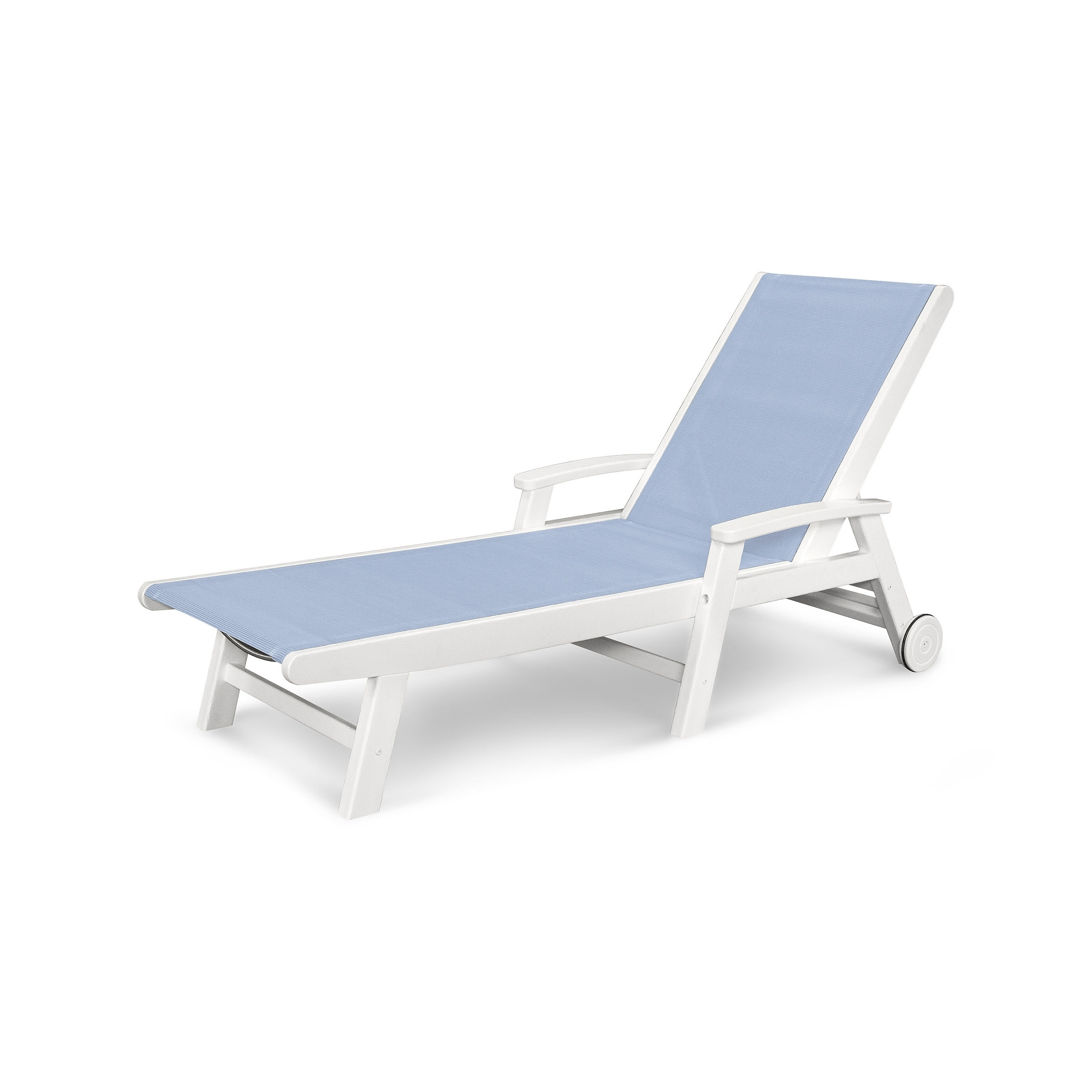 White Outdoor Chaise Lounges Intended For Most Current Polywood Furniture (View 12 of 15)
