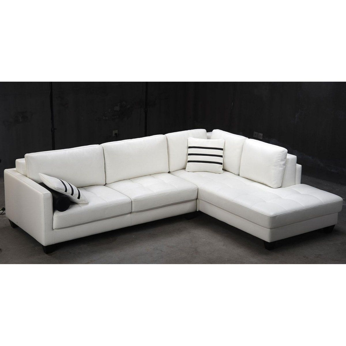 White Sectional Sofas In Famous Tosh Furniture Modern White Leather Sectional Sofa (View 13 of 15)