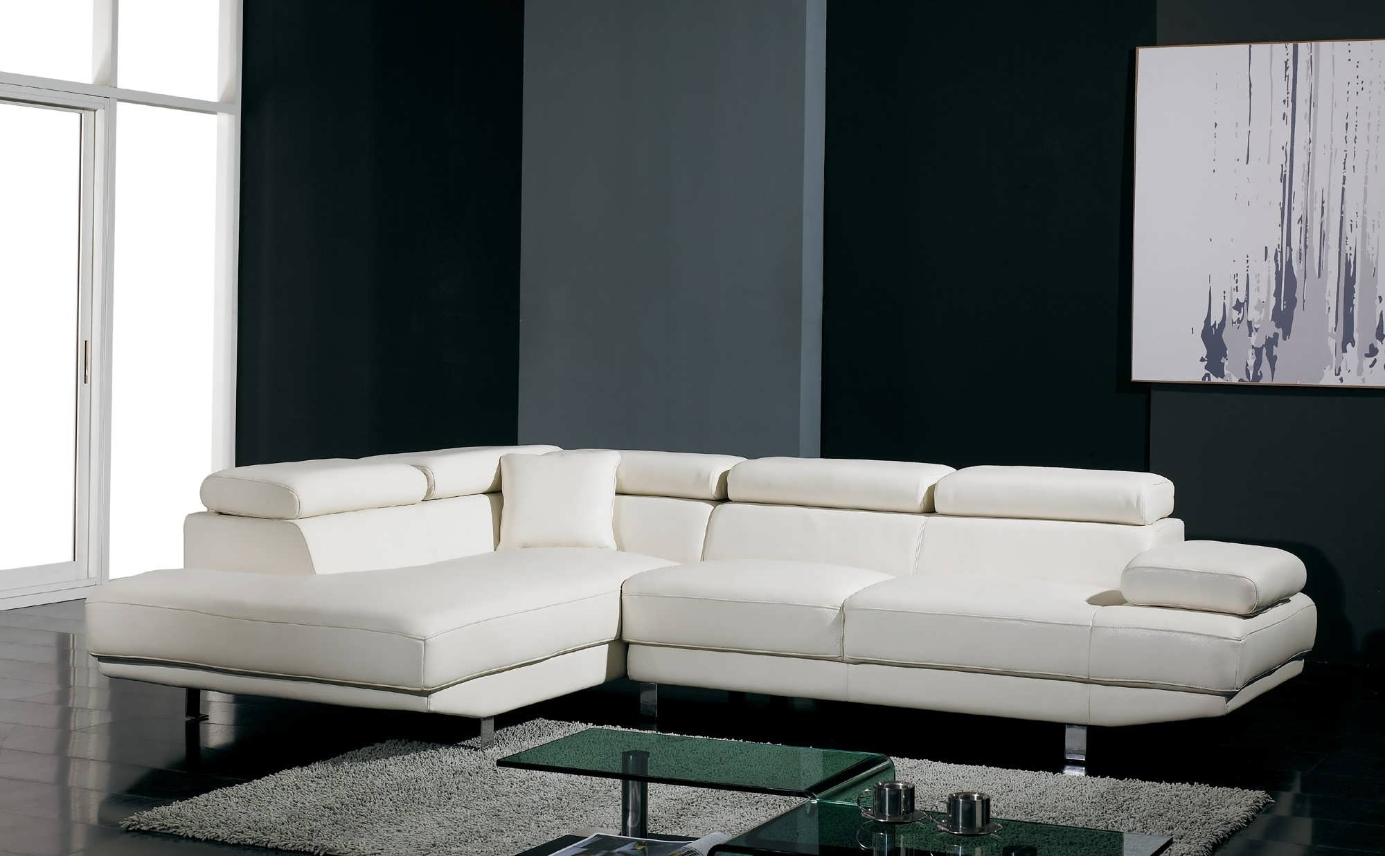White Sectional Sofas With Chaise Regarding Most Recent Sofa : Sectional Living Room Sets Leather Sectional Sofa Modular (View 13 of 15)