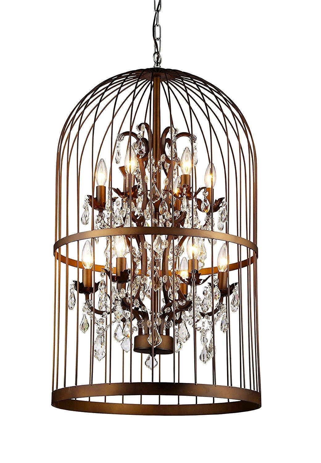 Whse Of Tiffany Rl8058B Rinee Cage Chandelier – – Amazon Regarding Newest Cage Chandeliers (View 2 of 15)