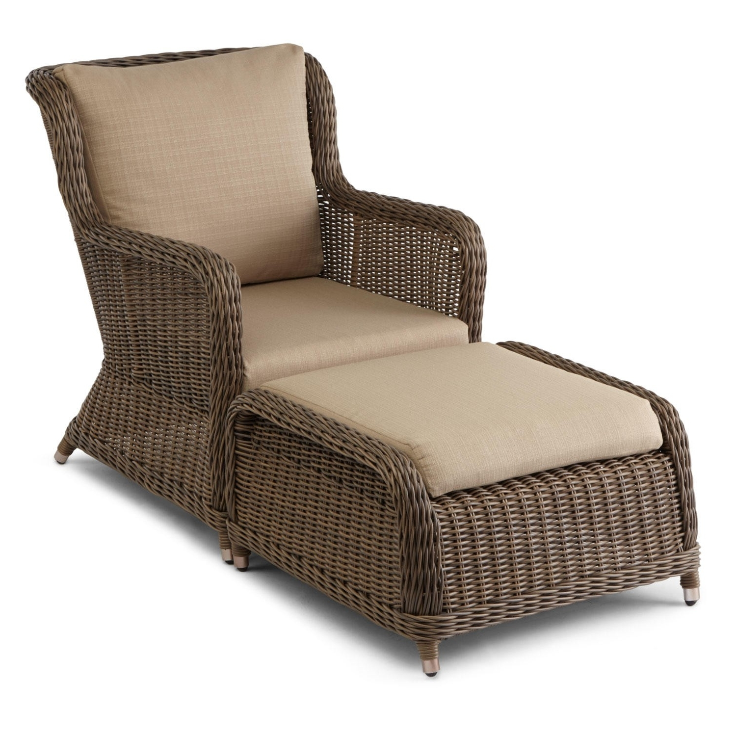 Wicker Chair With Ottoman – Modern Chairs Quality Interior 2017 Within Latest Chairs With Ottoman (View 12 of 15)