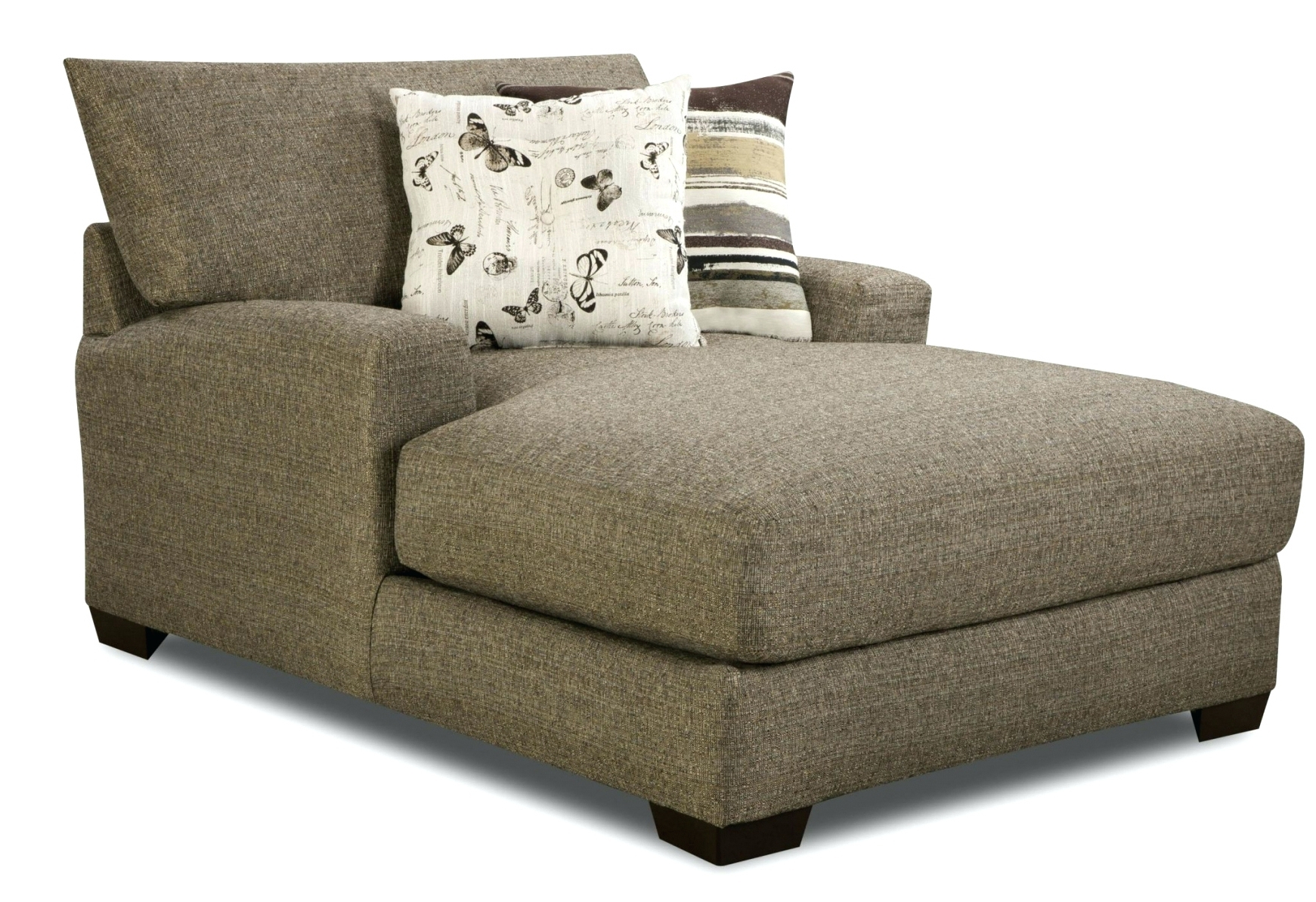 Wide Chaise Lounges With Fashionable Convertible Chair : Lounge Chair Double Wide Chaise Lounge Resin (View 4 of 15)