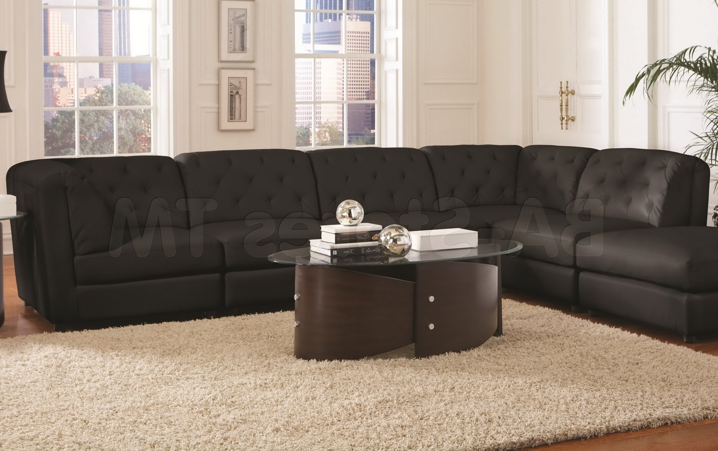 Wide Seat Sectional Sofas In Popular Couch (View 14 of 15)