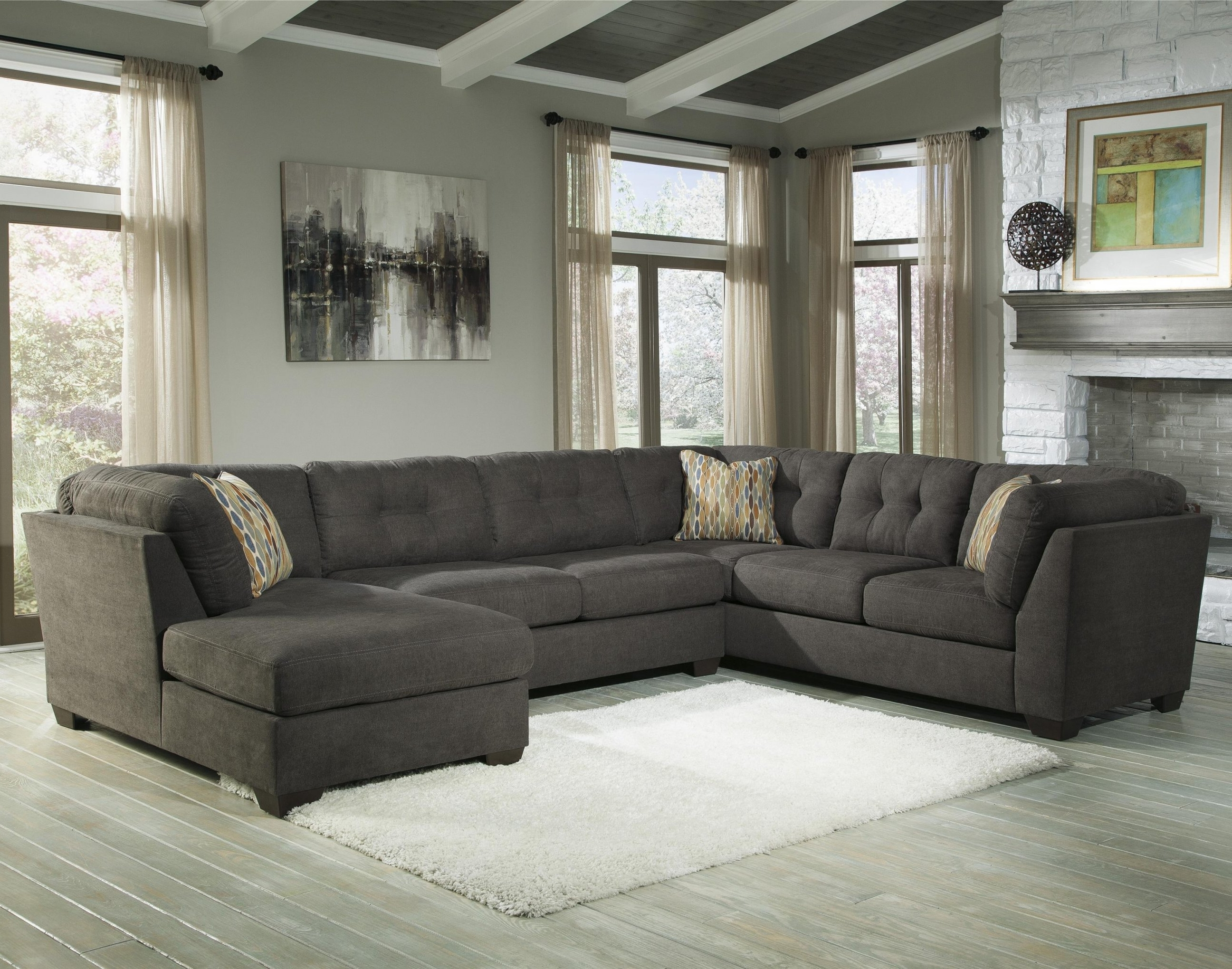 Widely Used 3 Piece Sectional Sleeper Sofas Regarding Piece Modular Sectional W/ Armless Sleeper & Right Chaise In  (View 15 of 15)