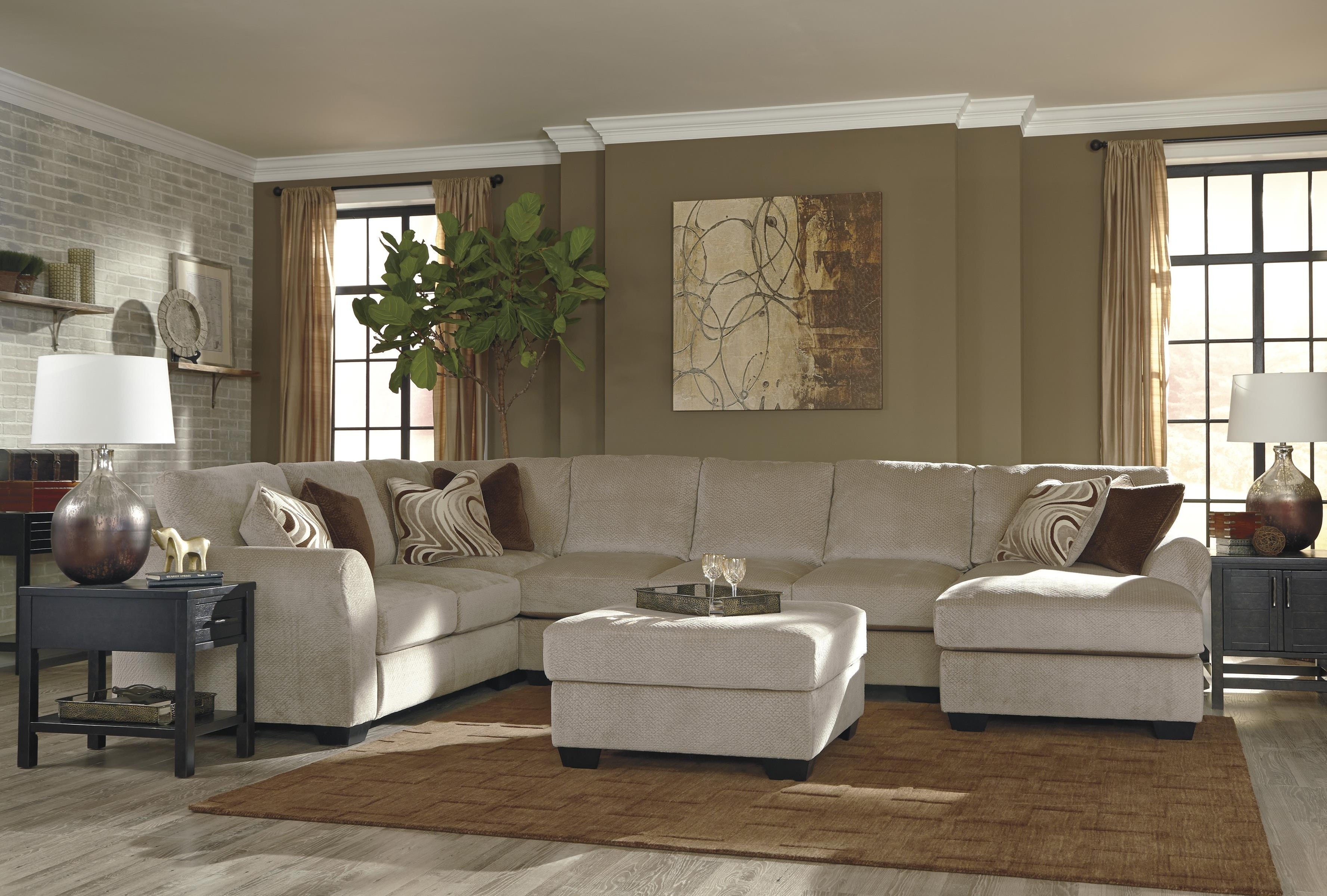 Widely Used 4 Piece Sectional Sofas With Chaise Intended For 4 Piece Sectional W/ Armless Sofa & Left Chaisebenchcraft (View 11 of 15)