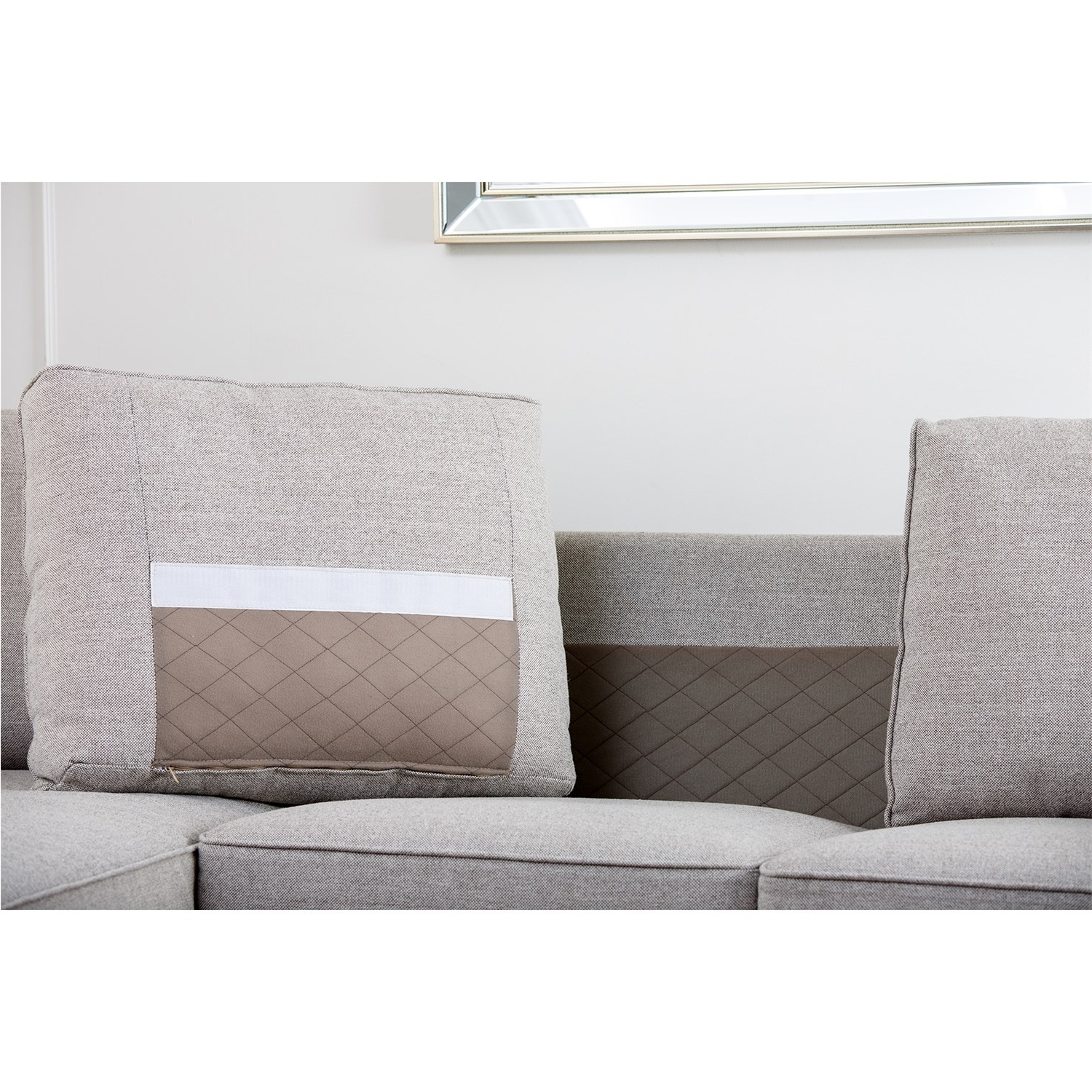 Widely Used Abbyson Living Rl 1321 Gry Regina Grey Fabric Sectional Sofa In Regina Sectional Sofas (View 14 of 15)