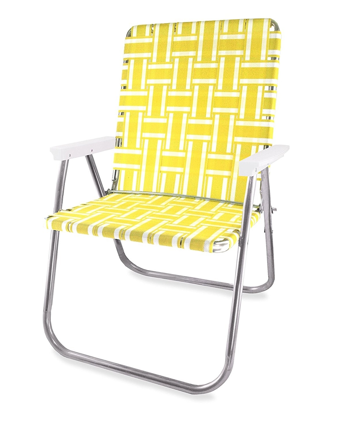 Widely Used Amazon : Lawn Chair Usa Aluminum Webbed Chair (Picnic Chair Within Lawn Chaises (View 15 of 15)