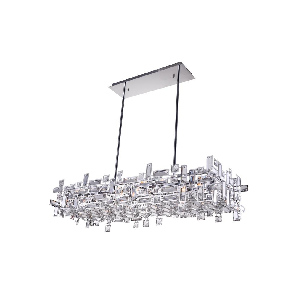 Widely Used Arley 12 Light Chrome Chandelier 5689P35 12 601 – The Home Depot With Chrome Chandeliers (View 15 of 15)