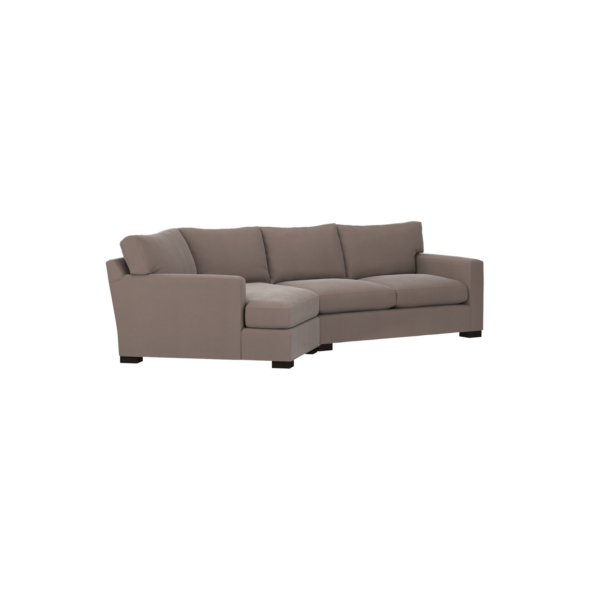 Widely Used Axis Ii 2 Piece Right Arm Angled Chaise Sectional Sofa Crate And In Angled Chaise Sofas (View 13 of 15)